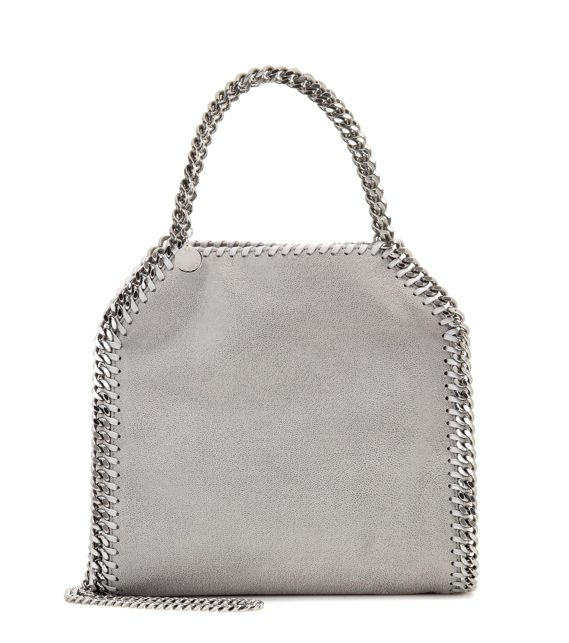 lyst stella mccartney falabella small shoulder bag in gray. Black Bedroom Furniture Sets. Home Design Ideas