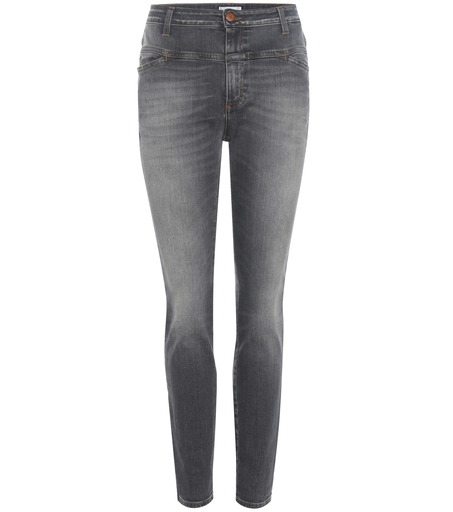 closed cropped worker jeans in gray lyst. Black Bedroom Furniture Sets. Home Design Ideas
