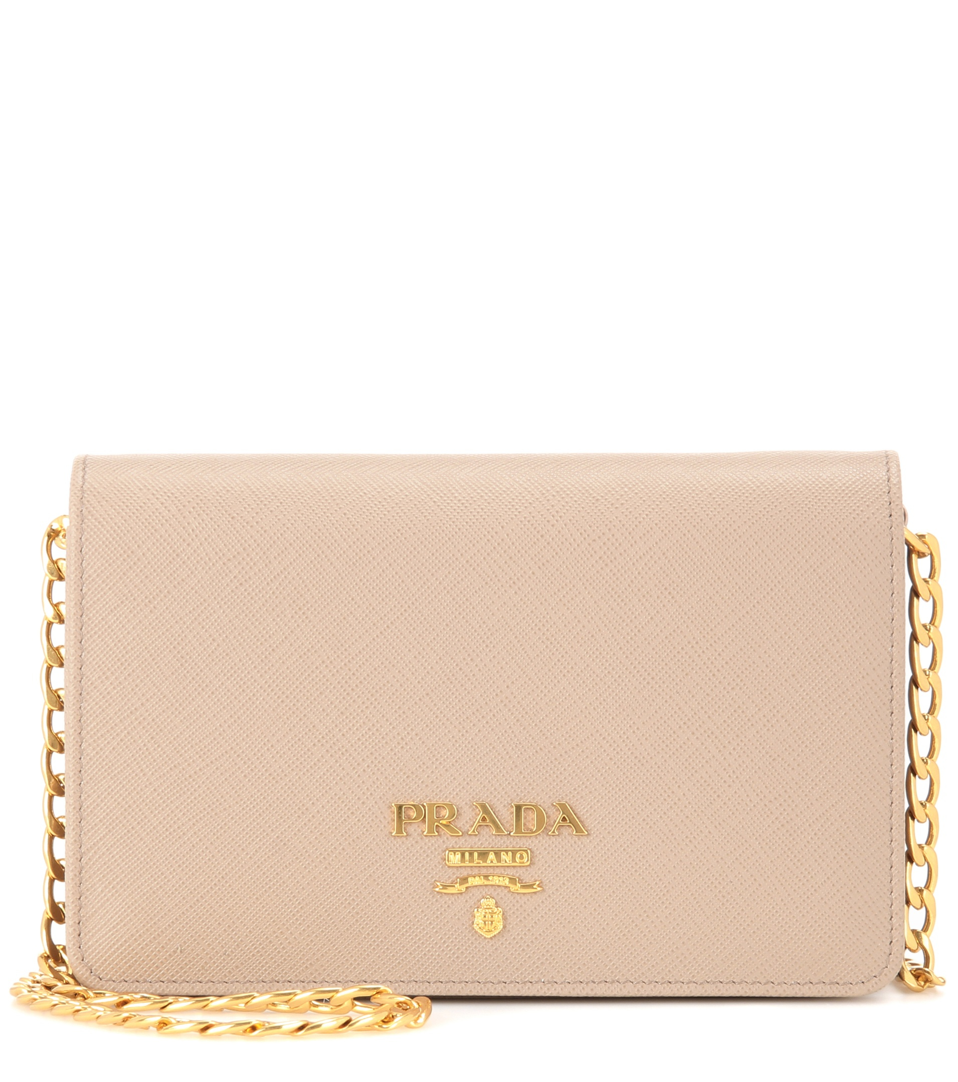 9305240497aa Prada Galleria Saffiano Leather Lux Small Shoulder Bag in Natural - Lyst