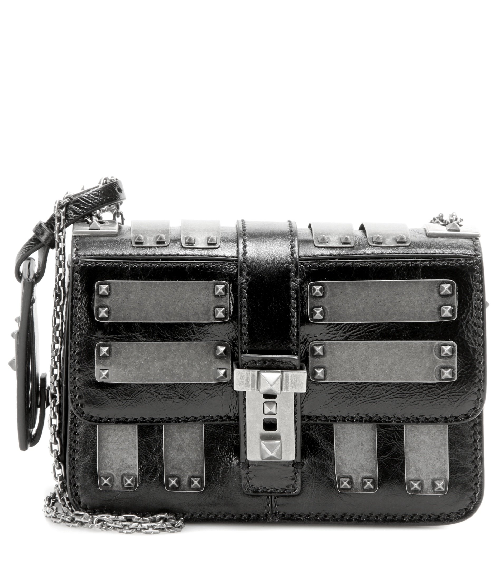 Lyst Valentino B Rockstud Micro Embellished Leather