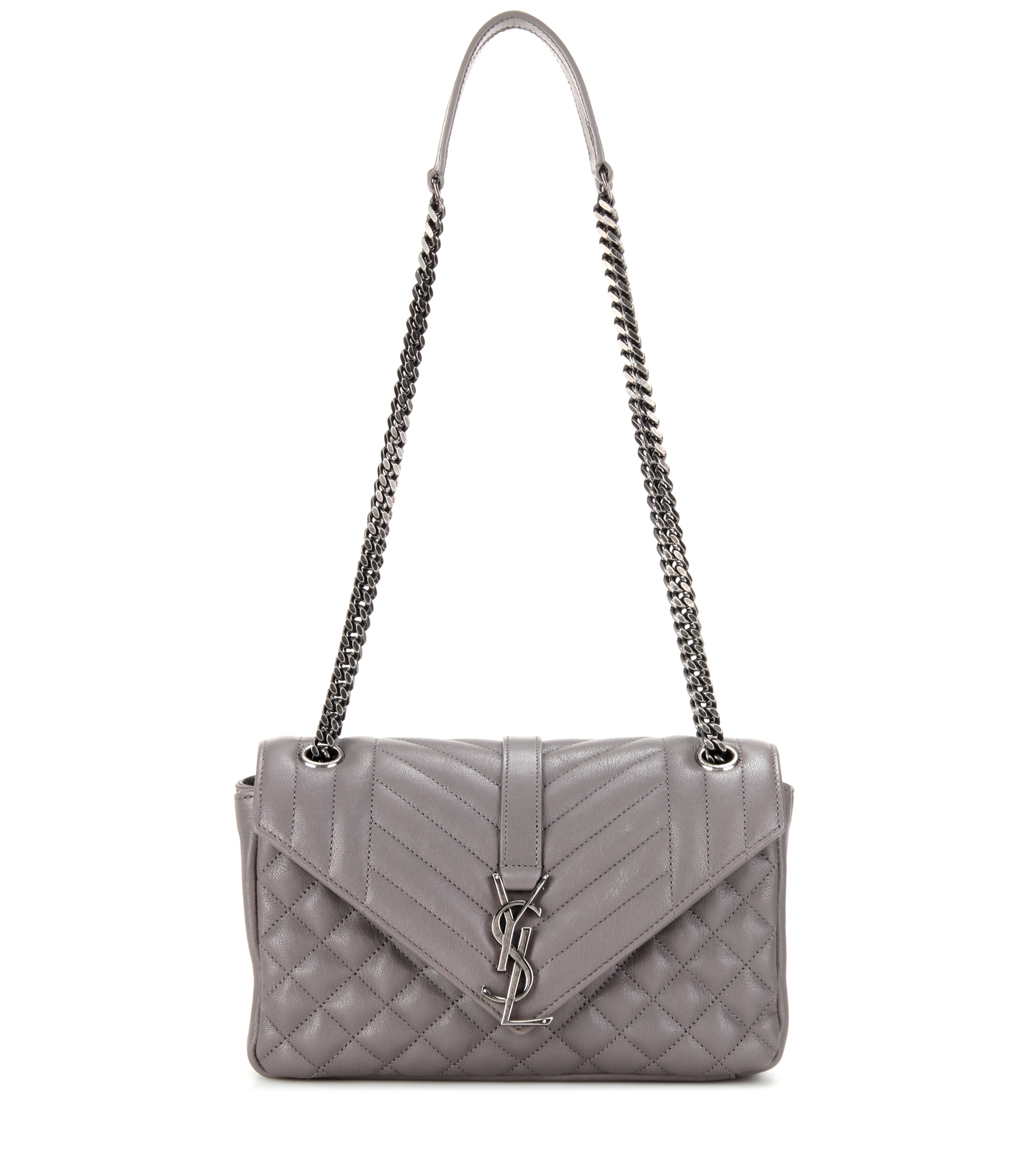 d36d935595 Lyst - Saint Laurent Medium Tri-Quilt Slouchy Leather Shoulder Bag ...