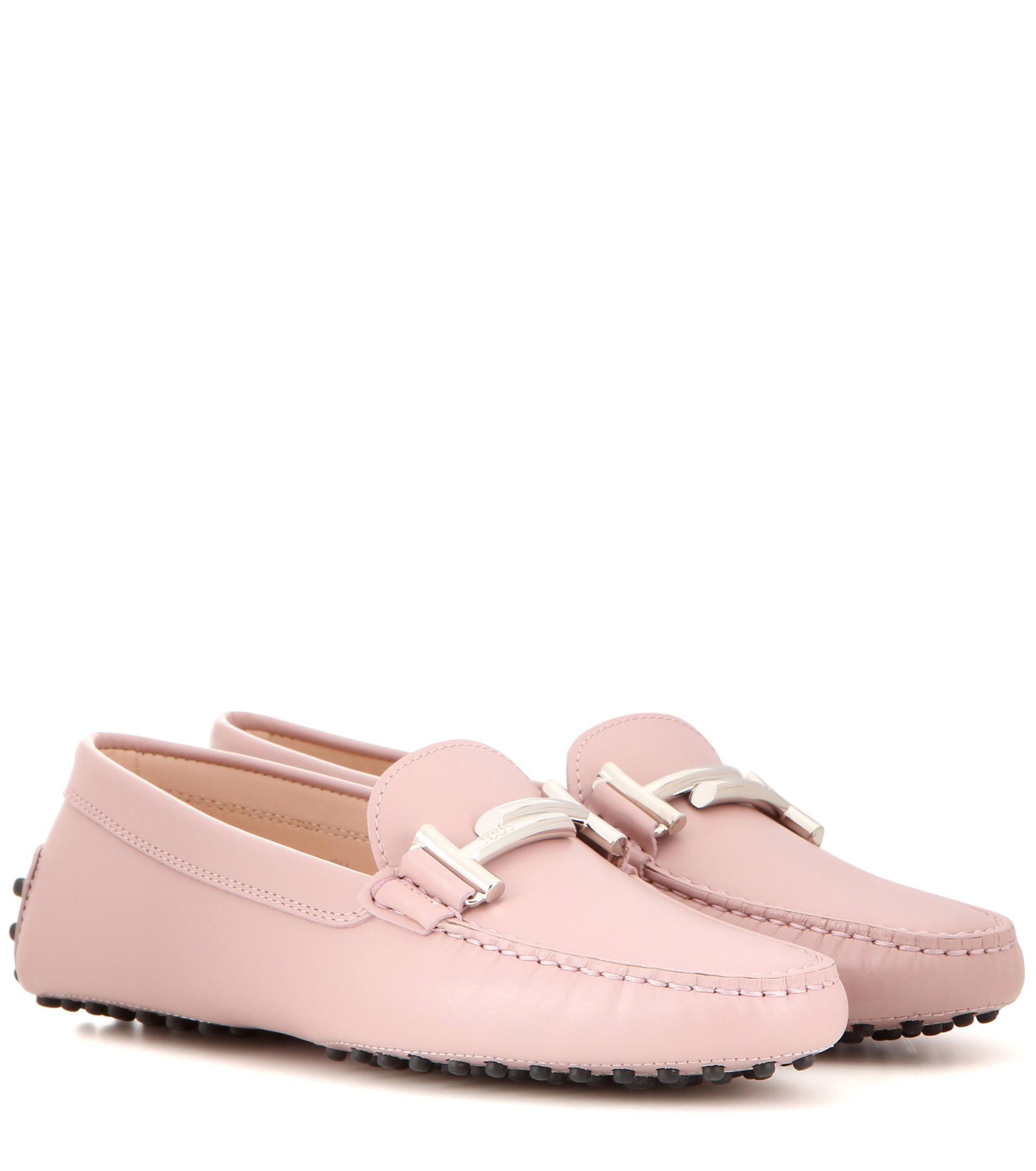 Lyst Tod S Gommino Leather Loafers In Pink