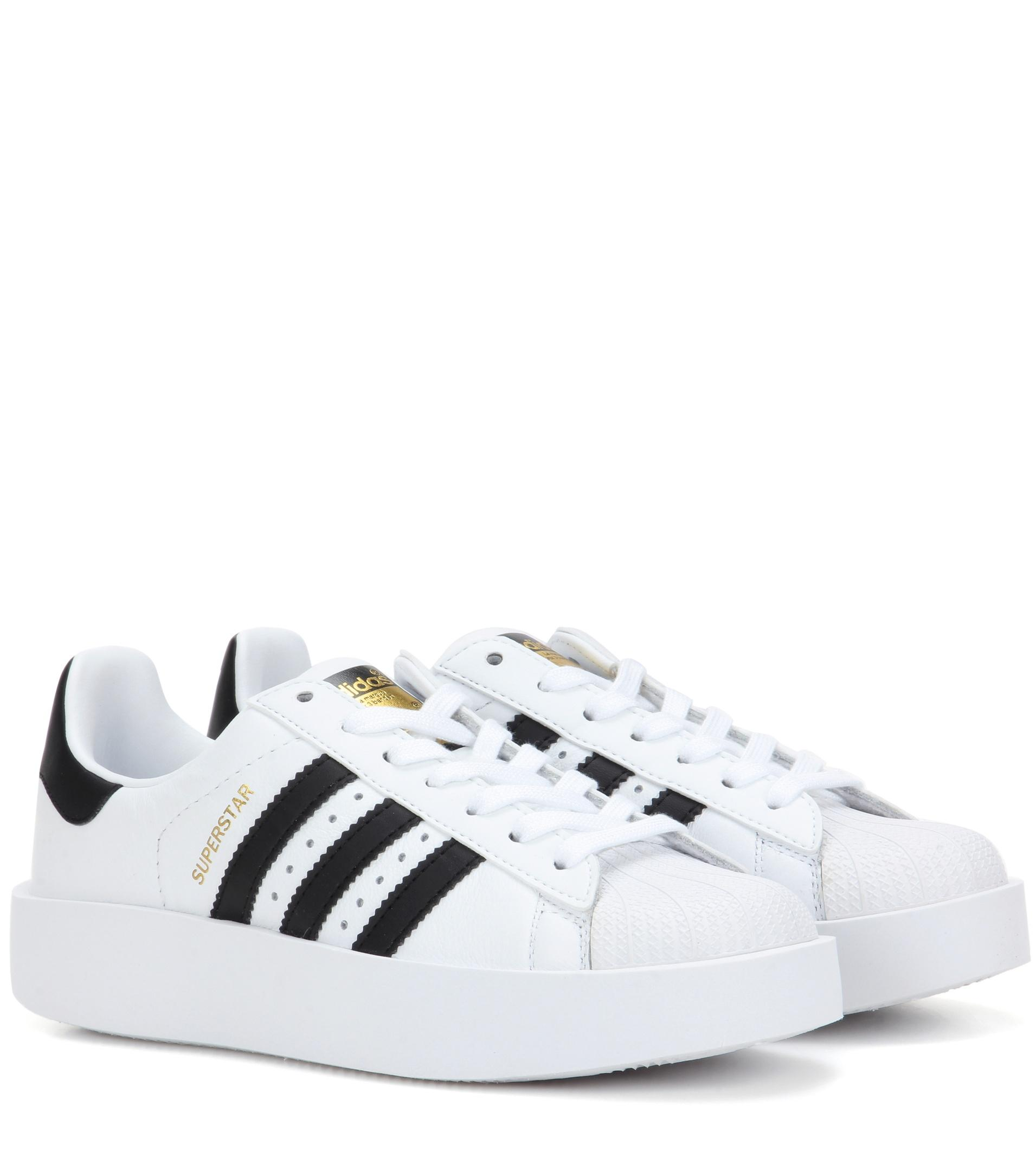 7fef589d3e62 Lyst - adidas Originals Superstar Bold Leather Sneakers in White