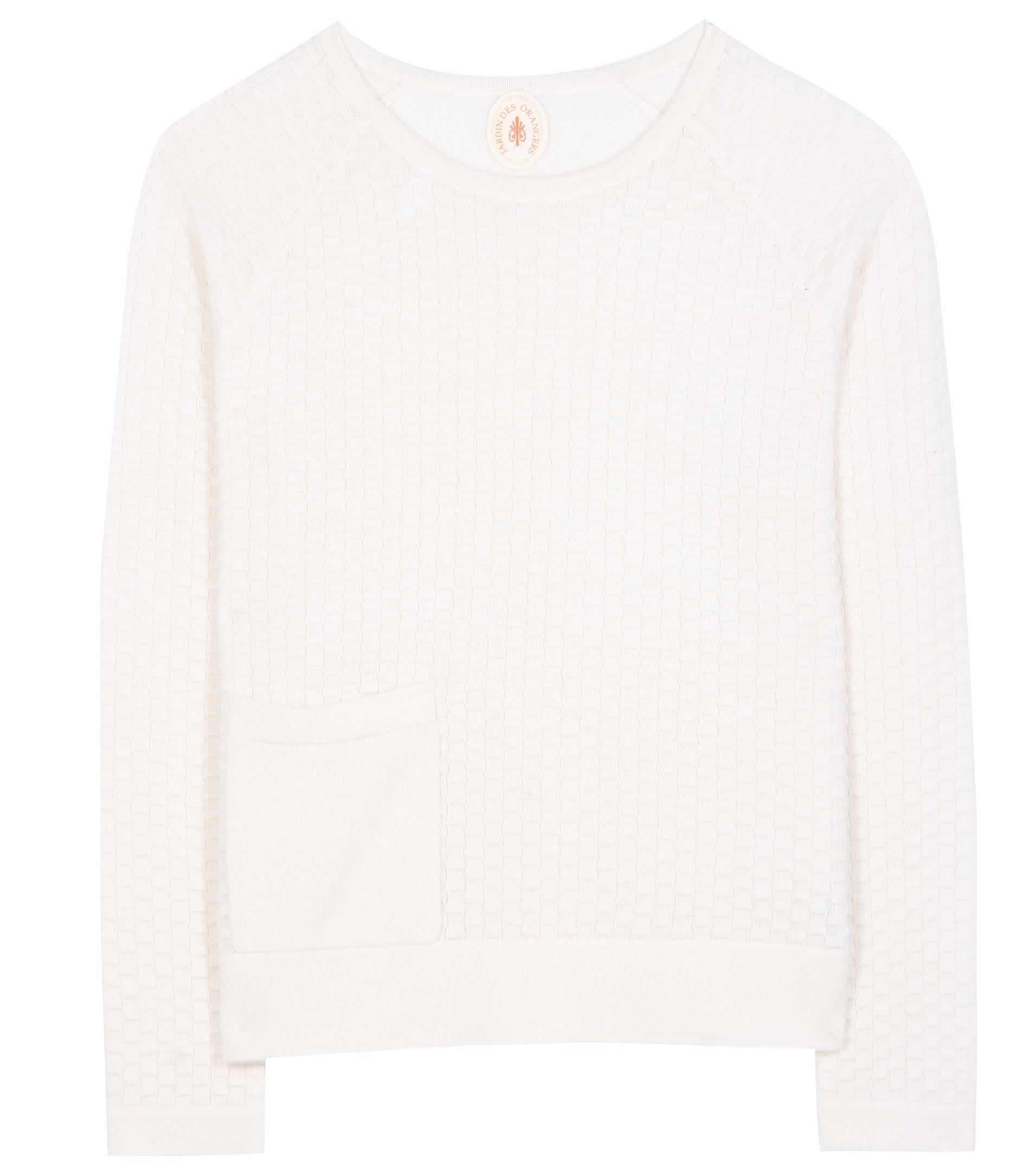 Jardin des orangers wool and cashmere sweater lyst for Jardin woolens