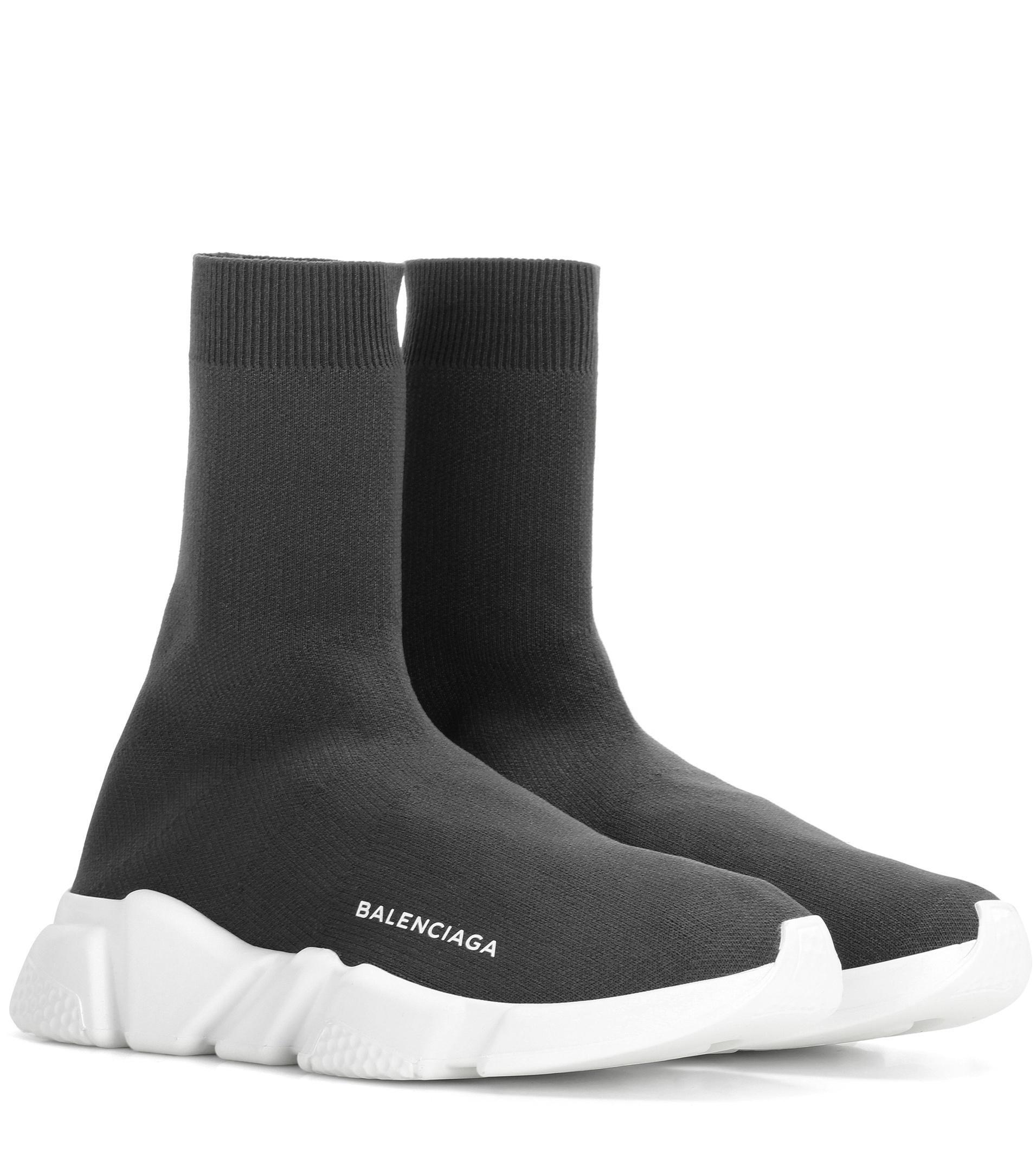 Lyst - Balenciaga Speed Sneakers in Gray 5d27022fef