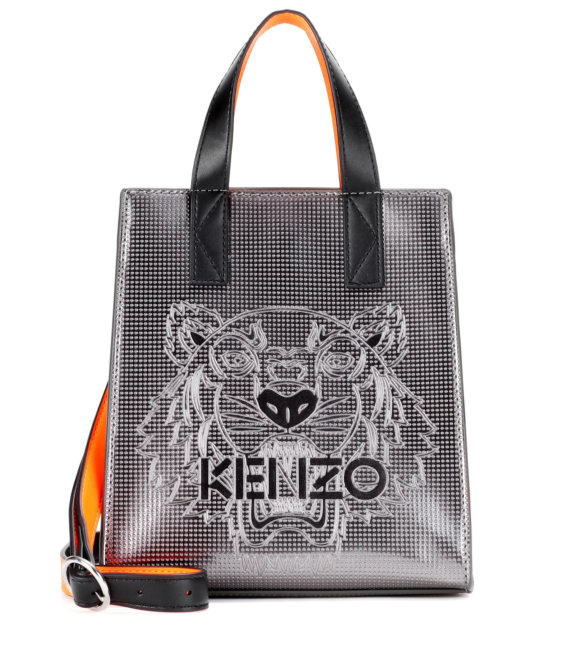 Lyst Kenzo Mini Tiger Embossed Tote In Black