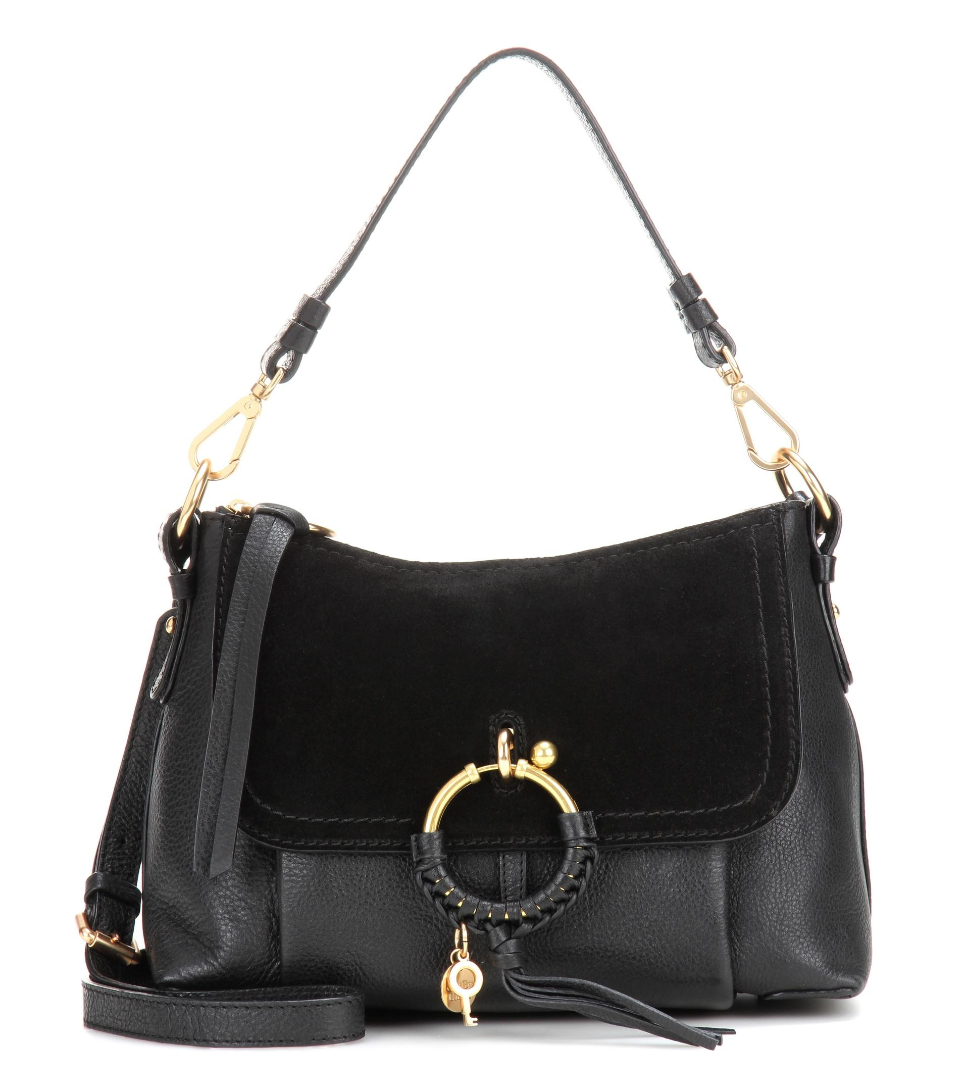 Lyst See By Chlo 233 Joan Small Leather And Suede Crossbody