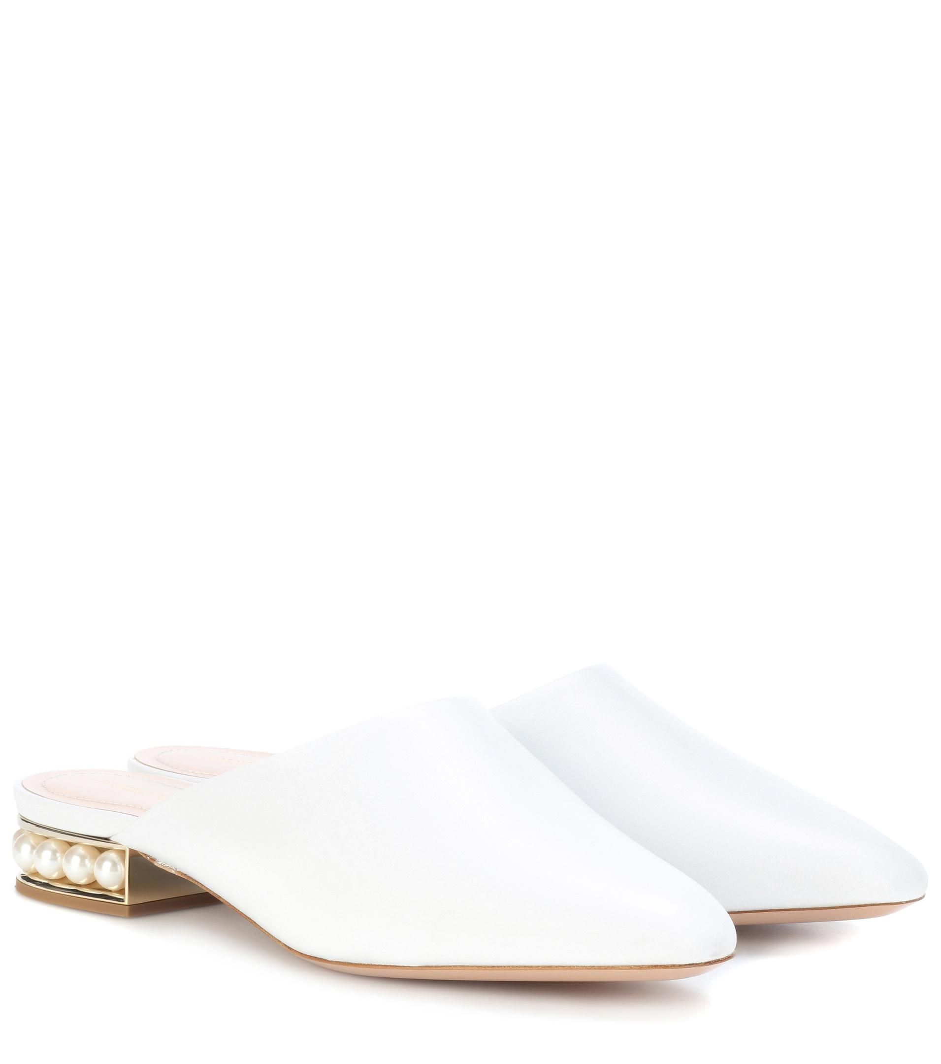 outlet online shop Nicholas Kirkwood Casati embellished leather mules cheap lowest price browse for sale T2NMk0l