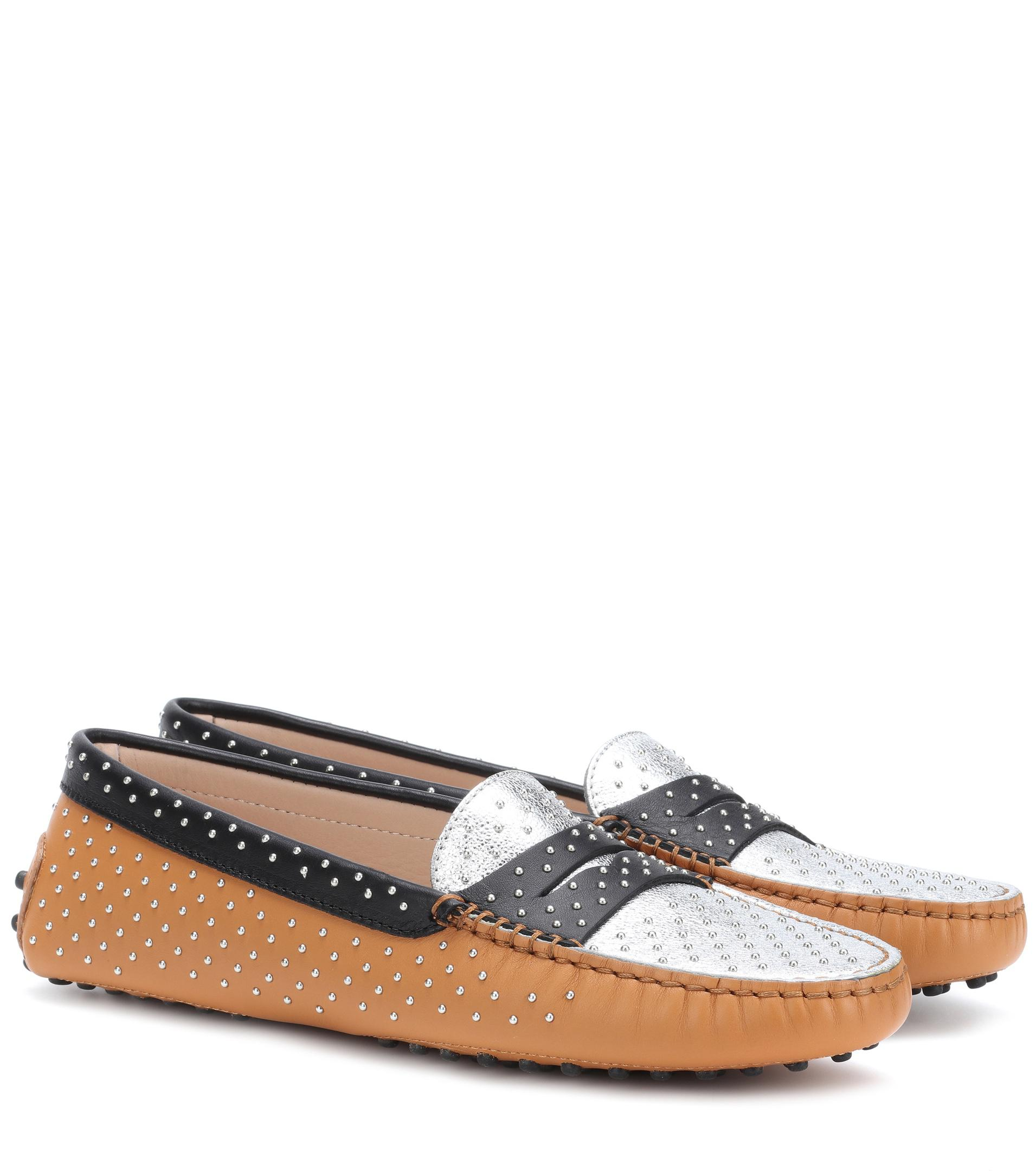 Embellished leather loafers Tod's Cheap Sale Cheapest Price Low Price Sale Online Clearance 2018 New Pick A Best dU6hz9bg