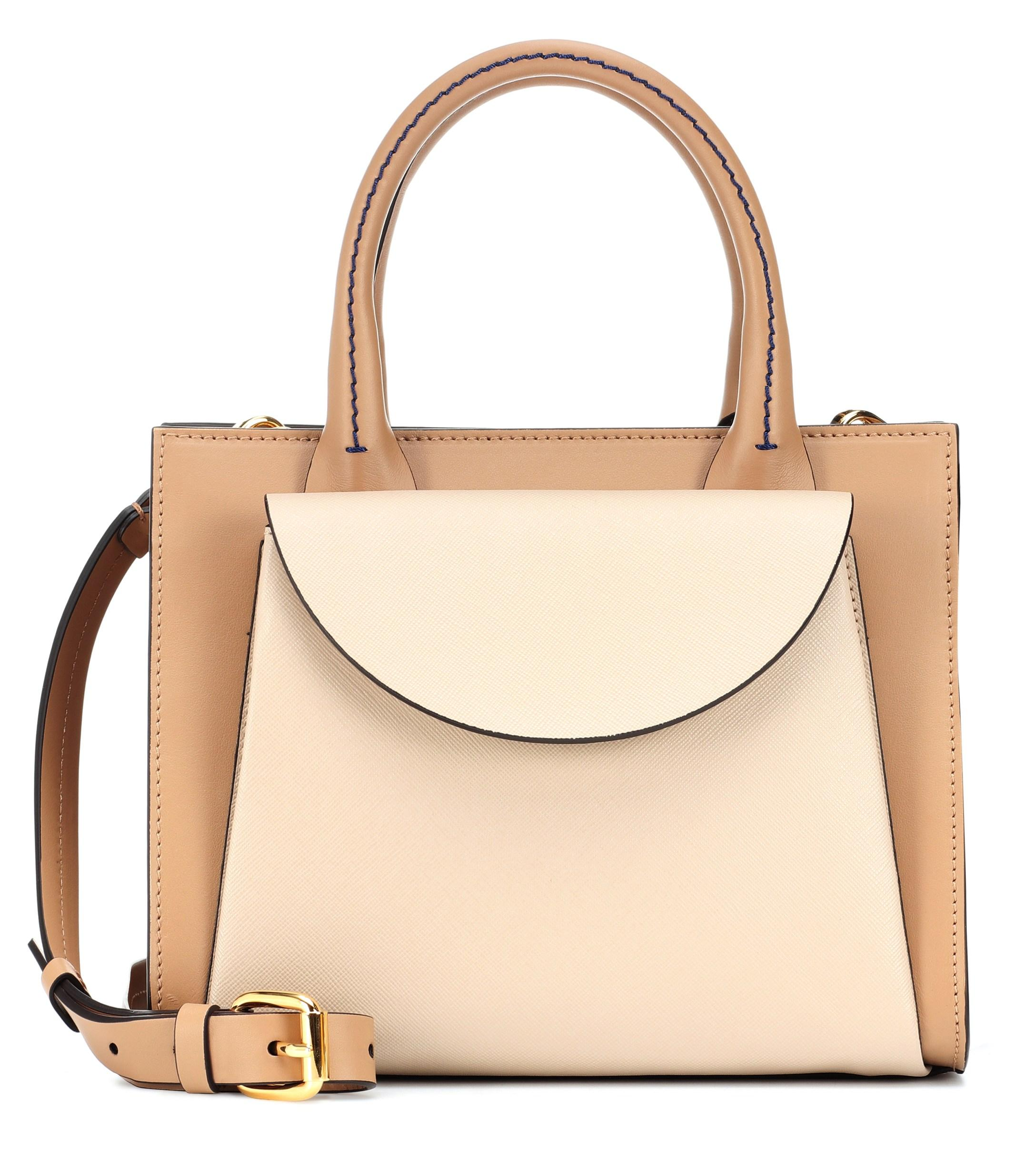 f8b179704f16 Lyst - Marni Law Leather Tote in Brown