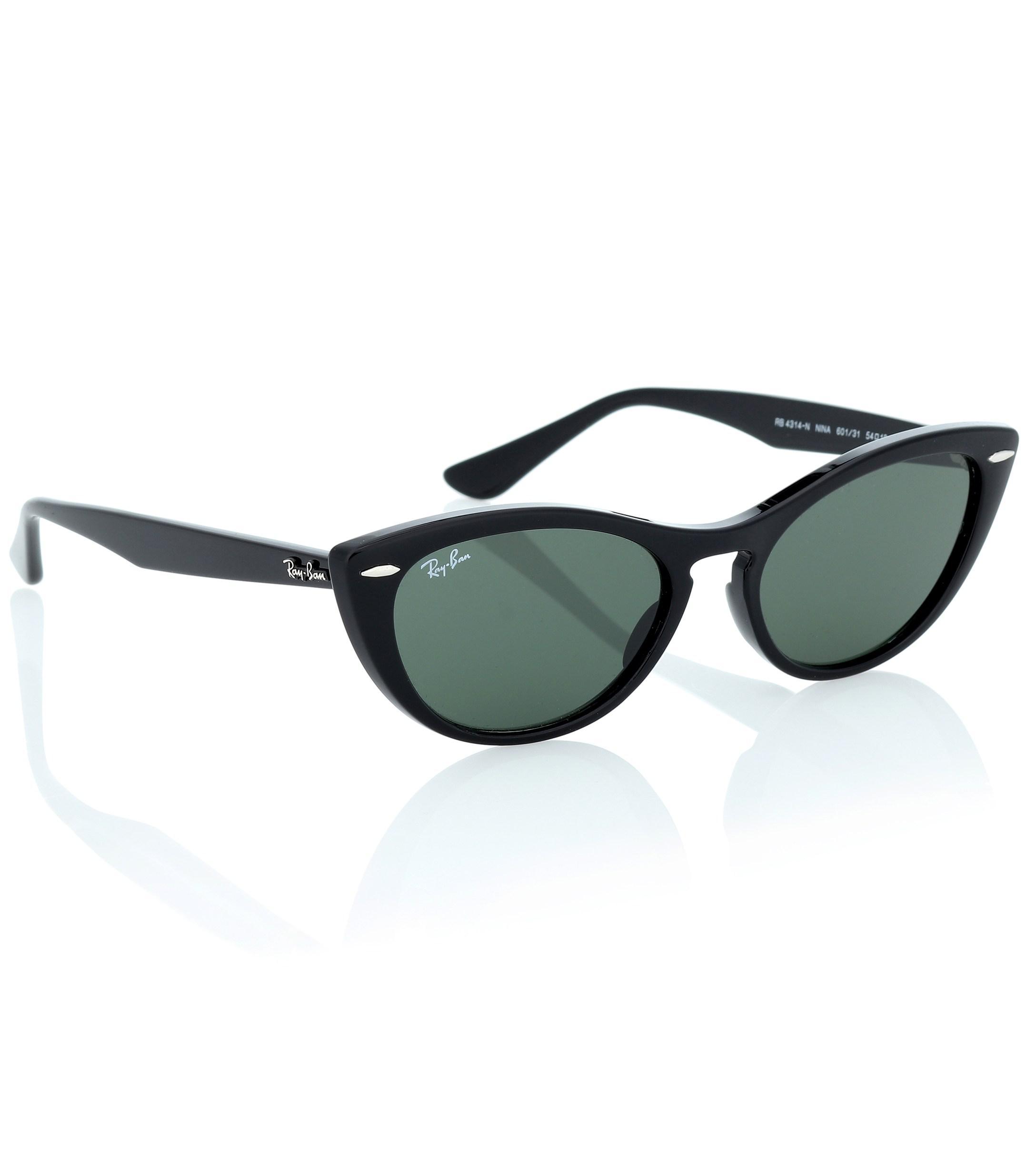 d6e583e8a5 Ray-Ban - Black Nina Cat-eye Acetate Sunglasses - Lyst. View fullscreen