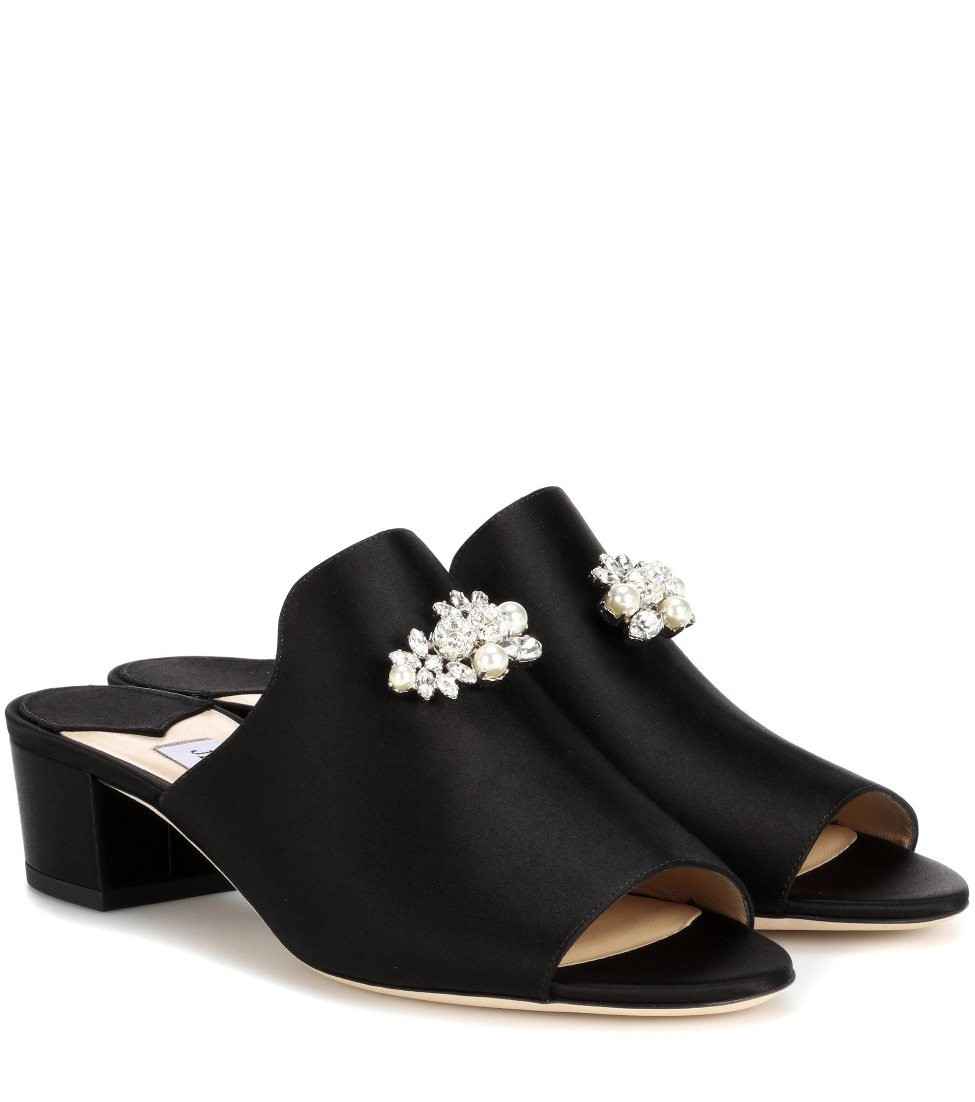 cheap sale countdown package Jimmy Choo Satin Embellished Mules cheap countdown package cheap sale ebay many kinds of lowest price online 3KbDB