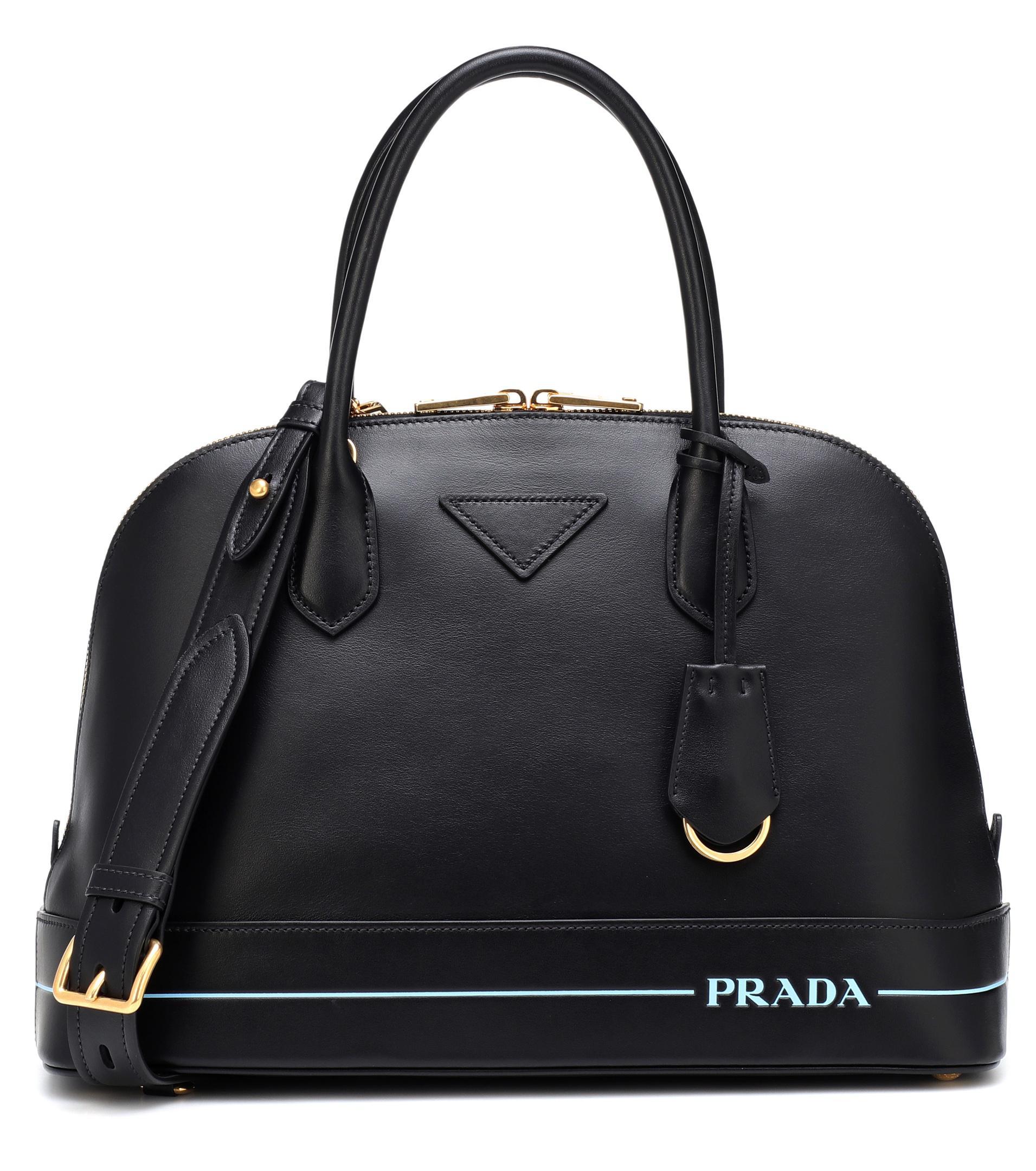 ccabdfa9c55047 Lyst - Prada Mirage Leather Shoulder Bag in Black