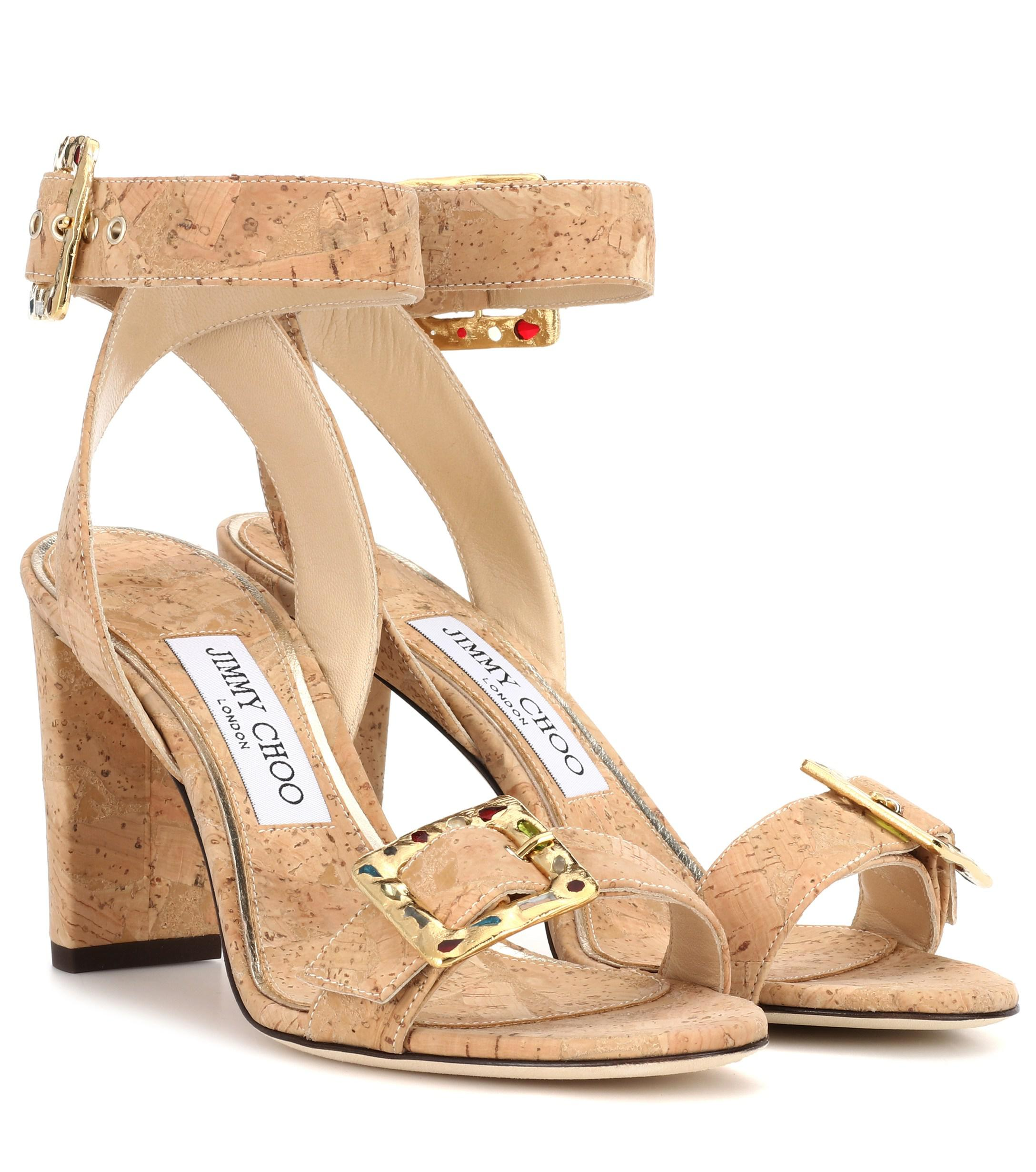 3878bbad6afc Jimmy Choo - Natural Dacha 85 Cork Sandals - Lyst. View fullscreen