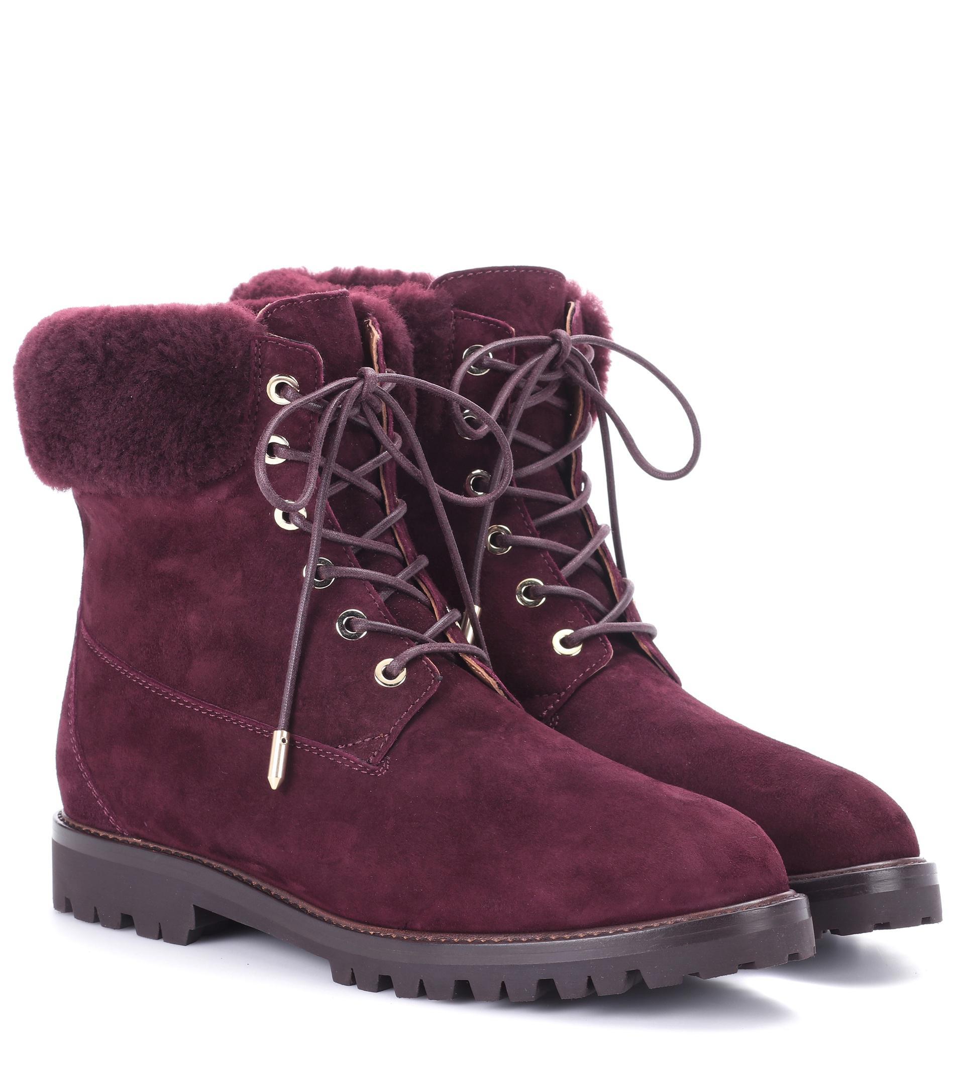 Aquazzura Mink-Trimmed The Heilbrunner Ankle Boots geniue stockist kVJXoQOjQ