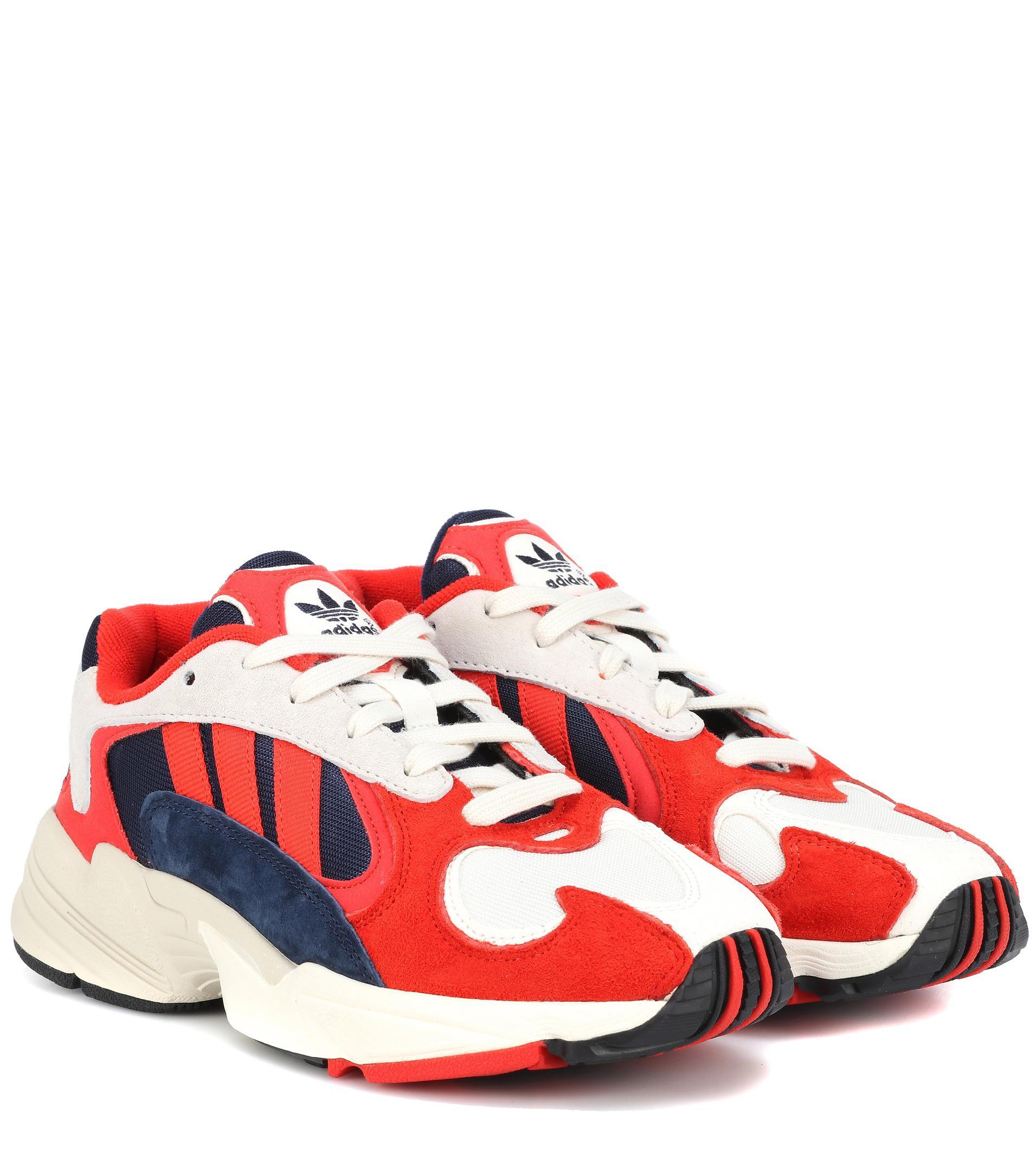 Lyst - Zapatillas de nobuk Yung 1 adidas Originals de color Rojo dd582f8c854