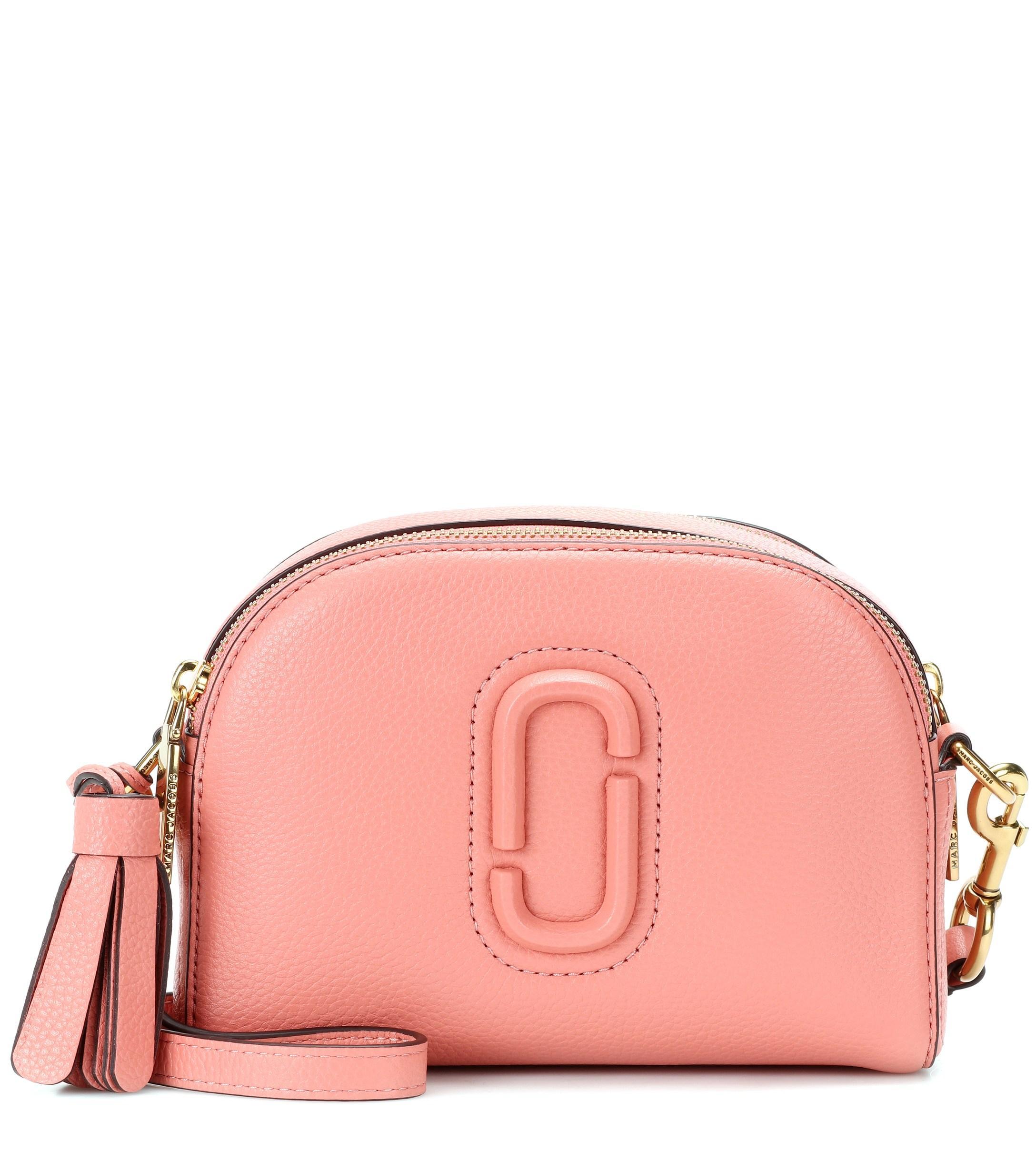 62b3682fc8c8 Marc Jacobs - Pink Shutter Leather Crossbody Bag - Lyst. View fullscreen