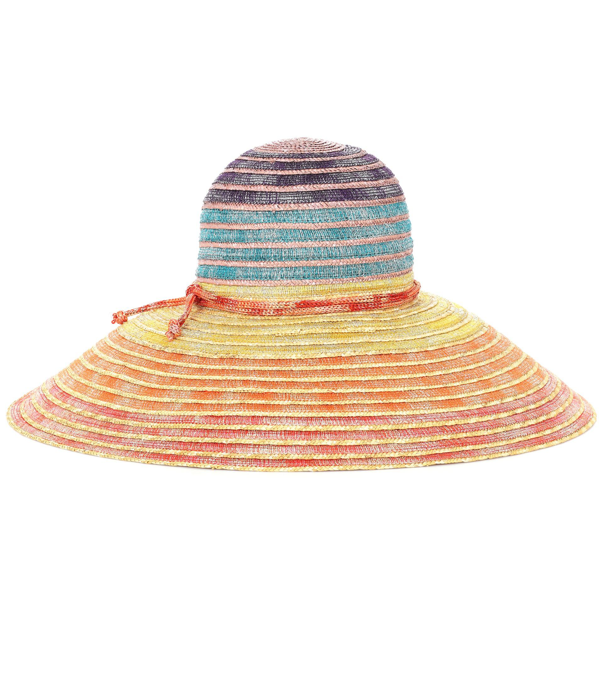 striped straw hat - Multicolour Missoni qQTll8f