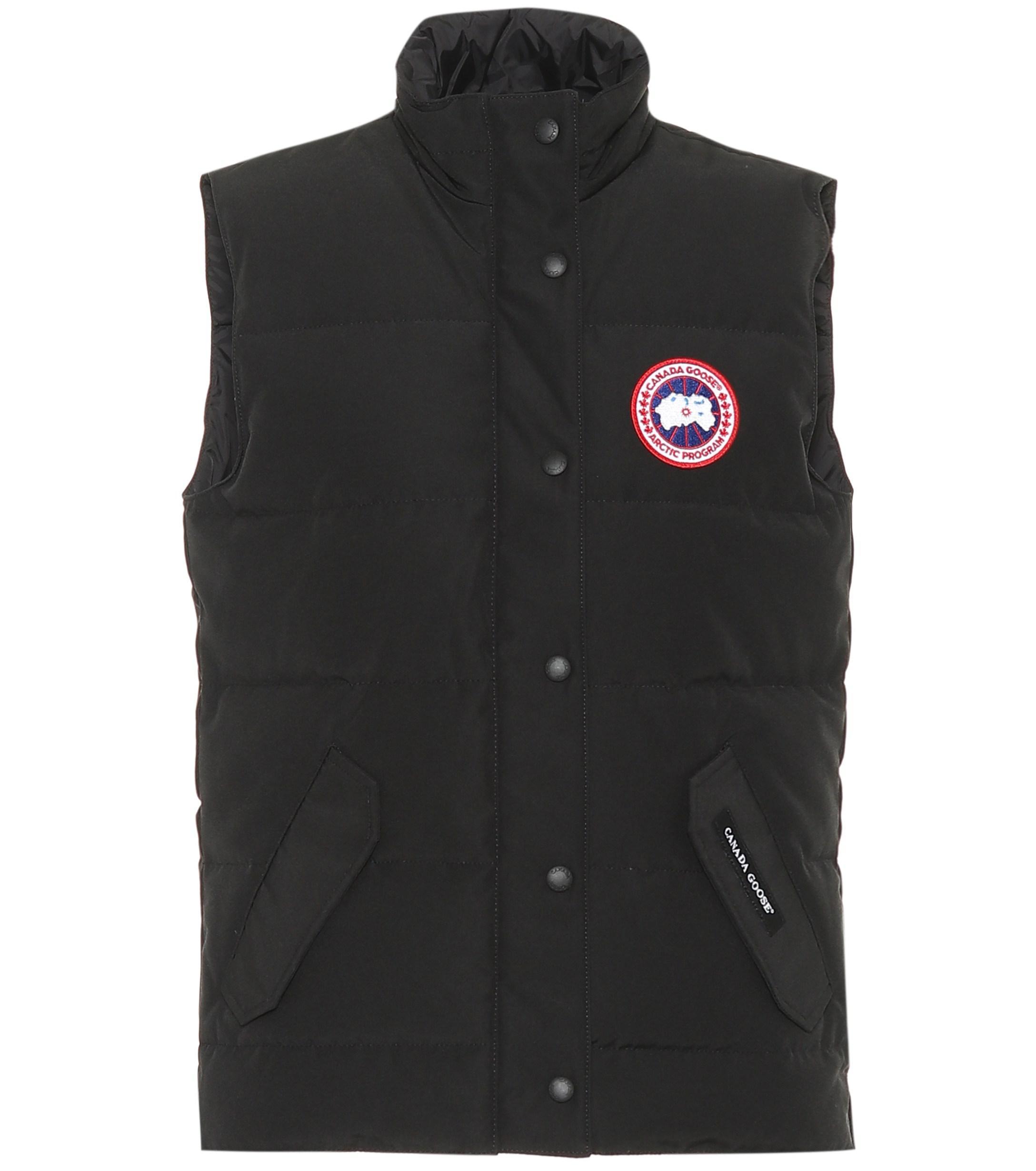lyst canada goose freestyle down vest in black rh lyst com