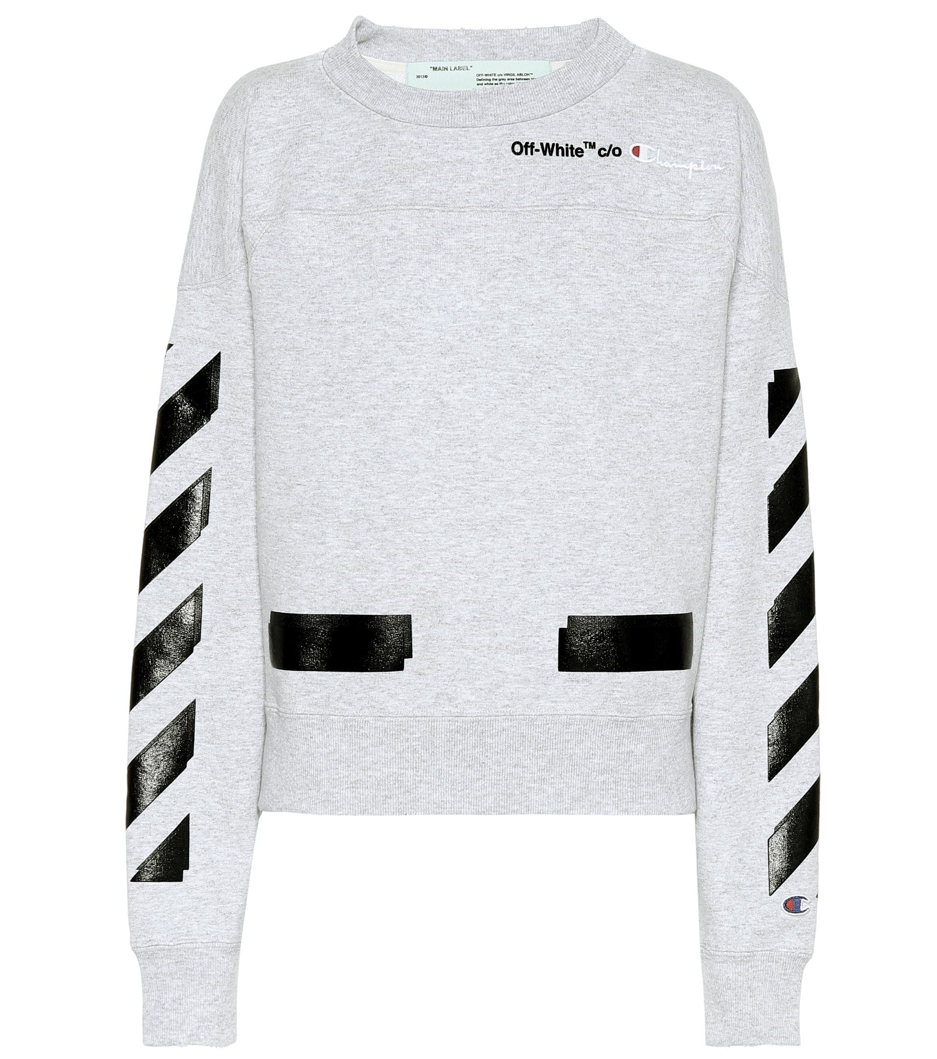 d930abff3ee9 Off-White c o Virgil Abloh X Champion Printed Sweatshirt in Gray - Lyst