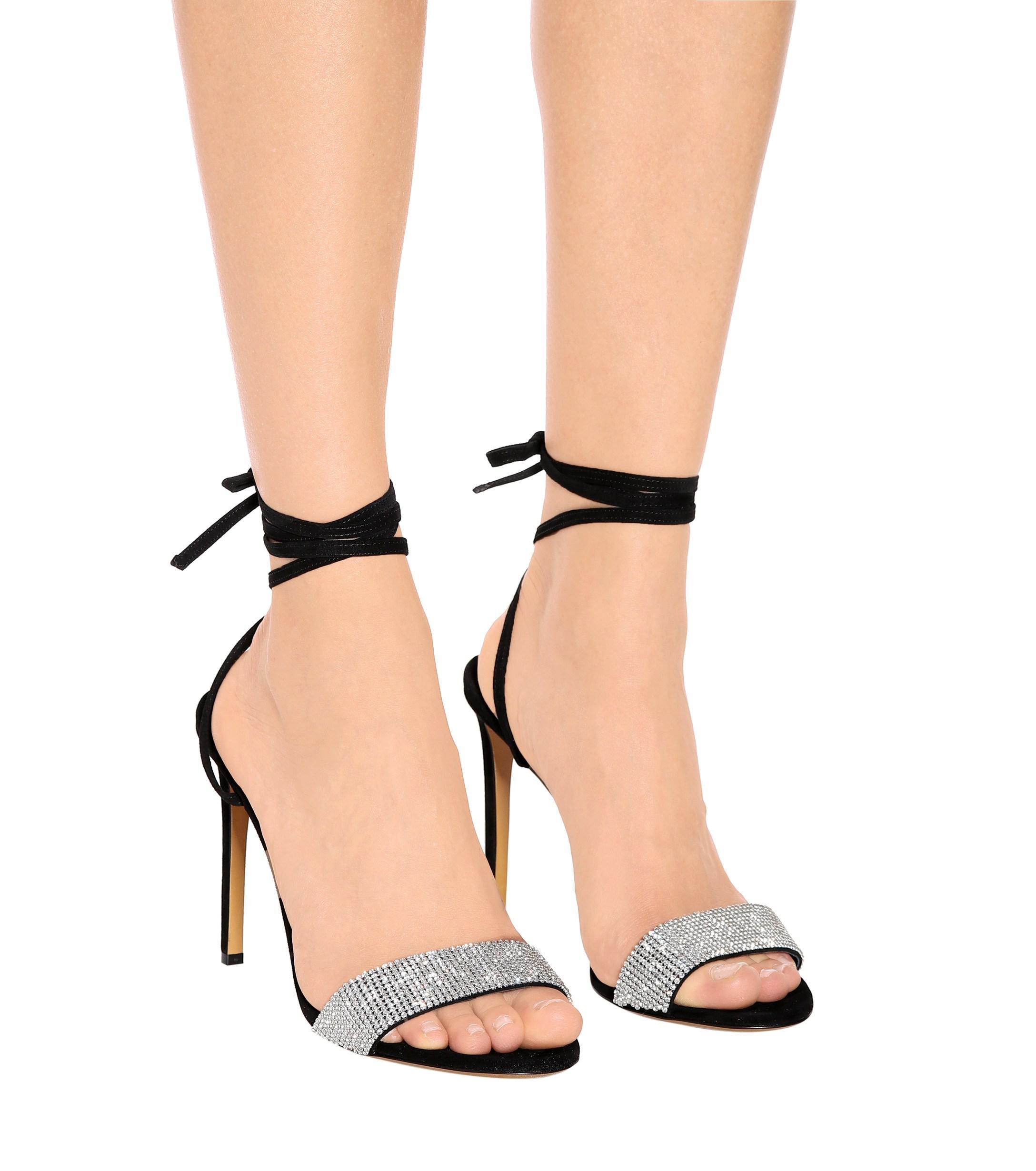 f2f9168c Alexandre Vauthier - Black Kim Crystal-embellished Sandals - Lyst. View  fullscreen