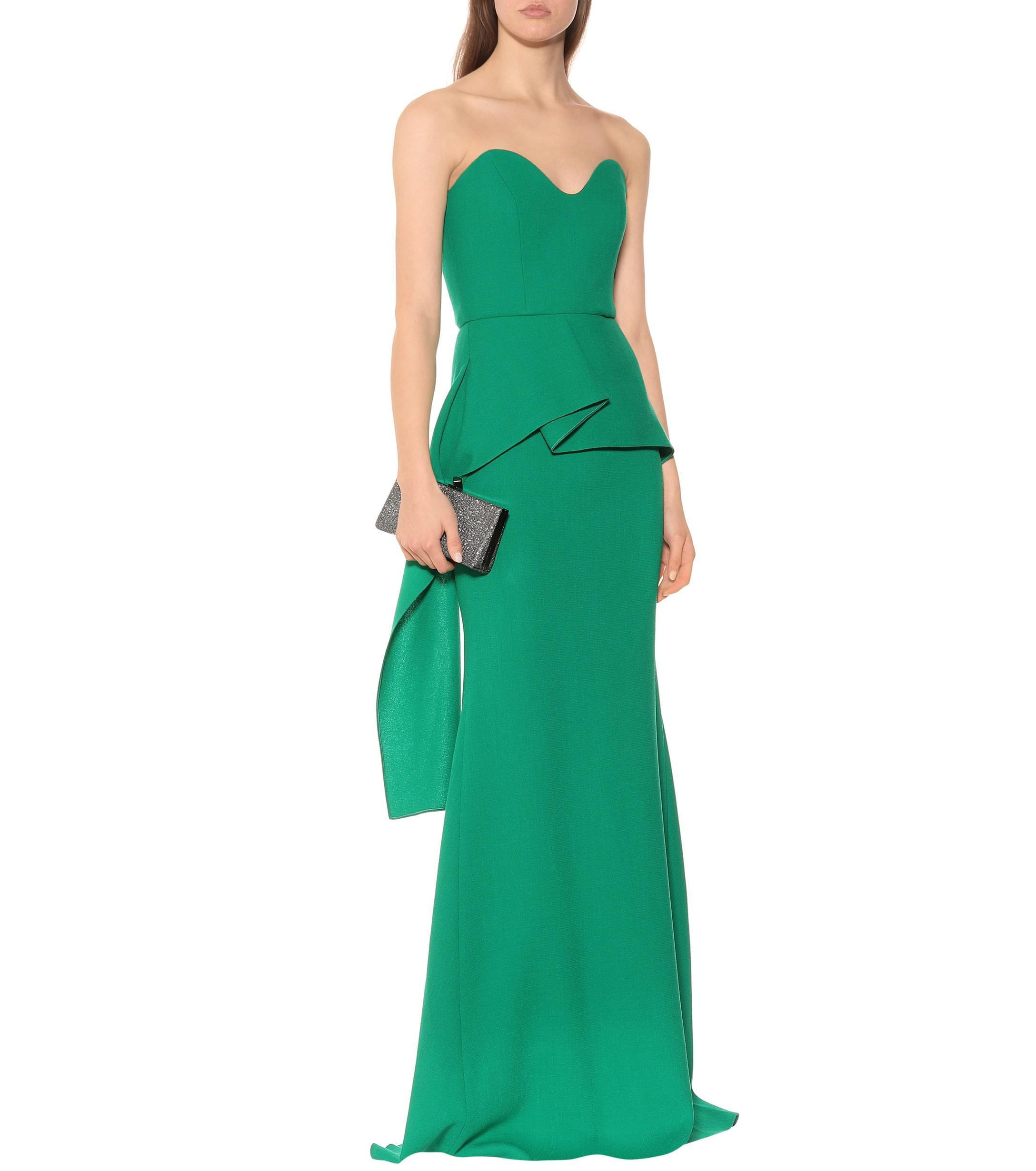 4a47aabb7a8e Roland Mouret - Green Bond Wool Crêpe Gown - Lyst. View fullscreen