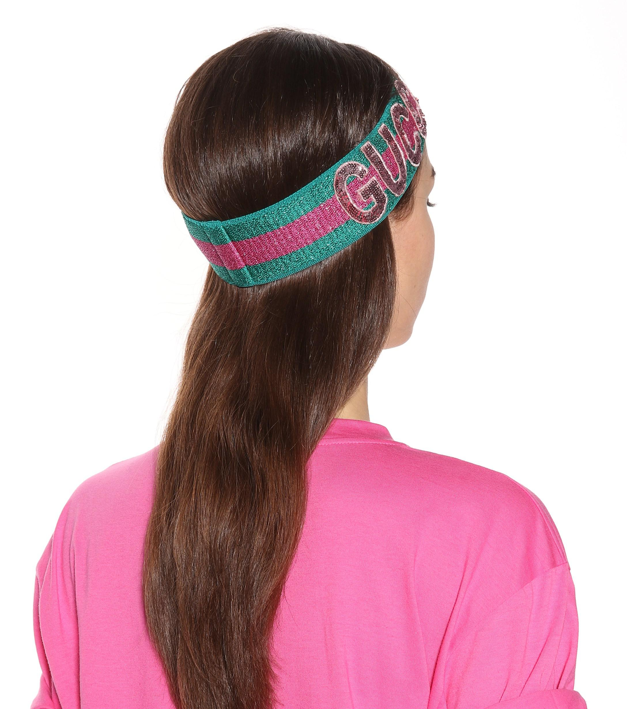 64d13eafafd Lyst gucci sequinned headband in pink reversible headband gucci macrame  pattern jpg 2176x2460 Reversible headband gucci