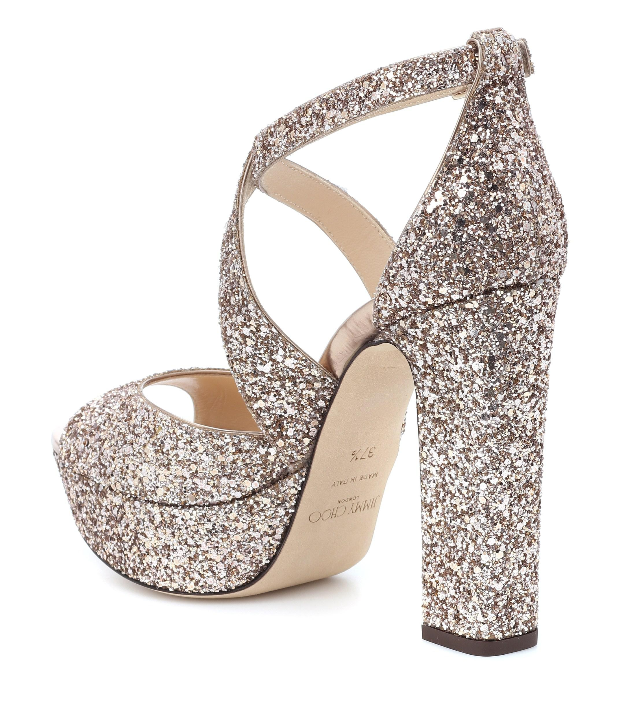 cdc7e5006044 Gallery. Previously sold at  Mytheresa · Women s Jimmy Choo Glitter ...