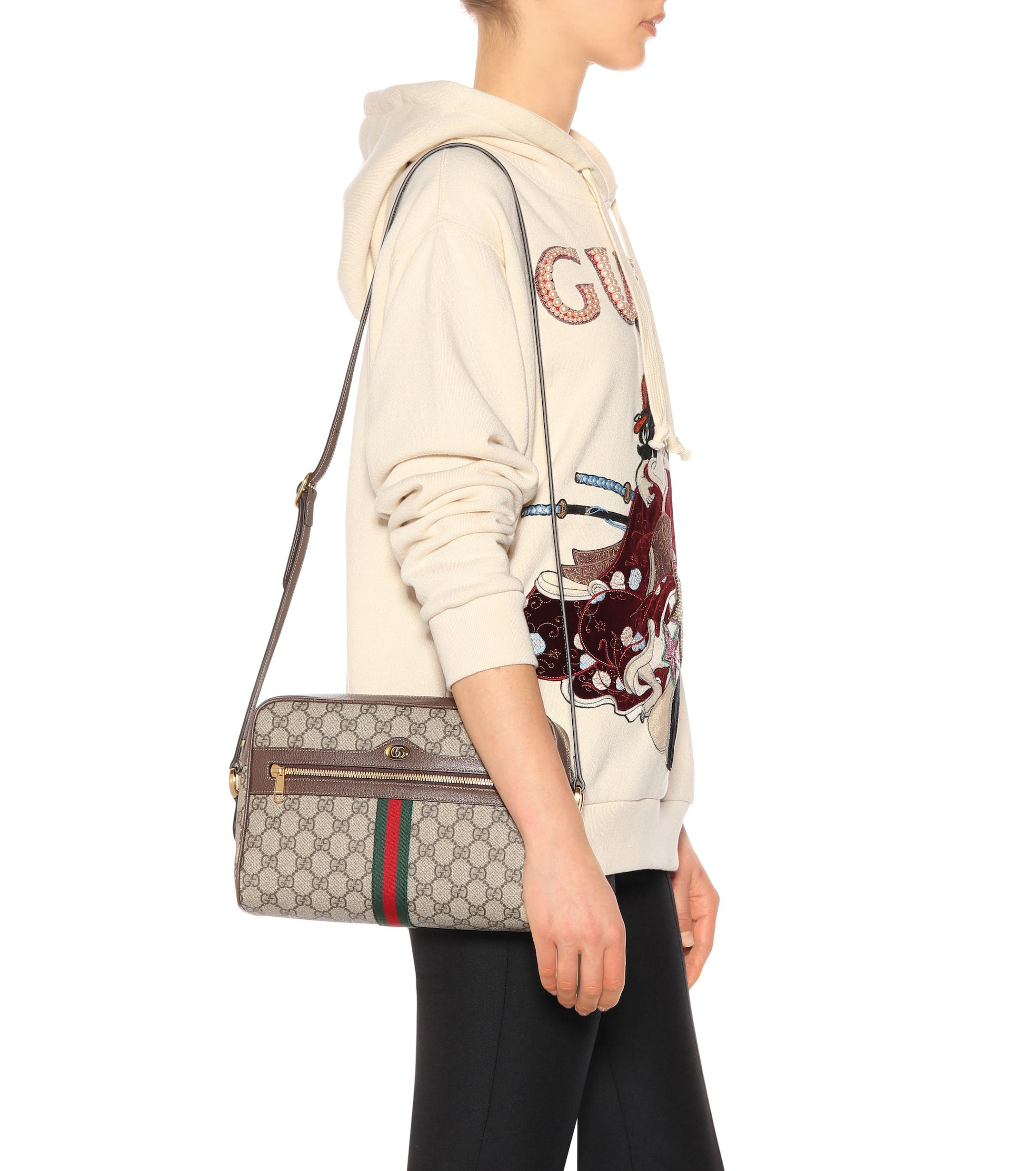 9bb63e53afa Gucci - Natural Ophidia Small GG Supreme Shoulder Bag - Lyst. View  fullscreen