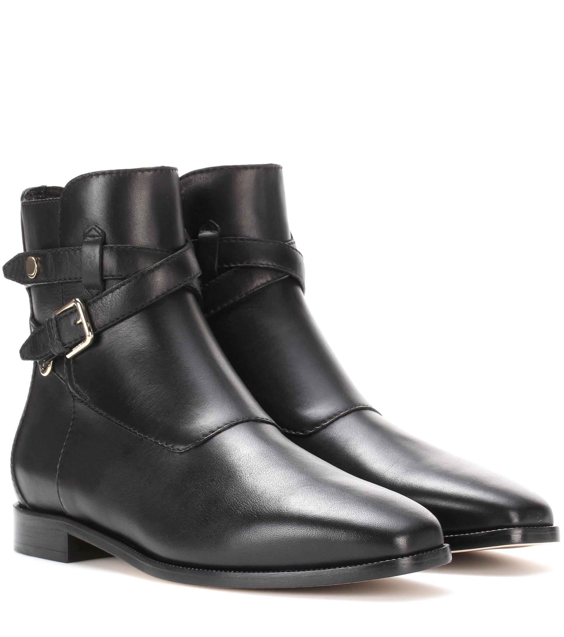 4d7dafdd470b ... promo code jimmy choo mitchel leather ankle boots in black lyst 0a157  1b9af ...