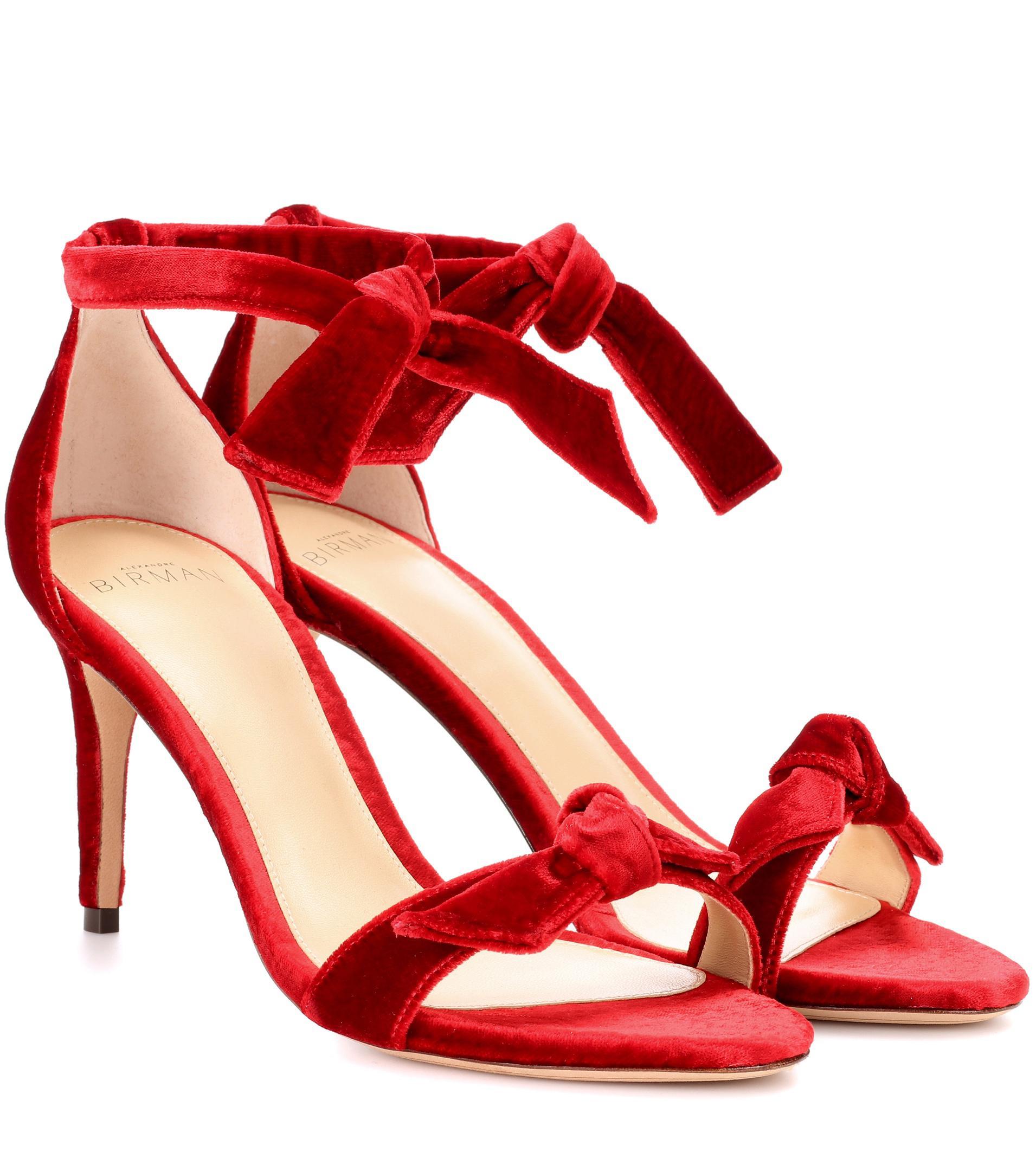 ALEXANDRE BIRMAN New Clarita Midi velvet sandals yBBTJzX2