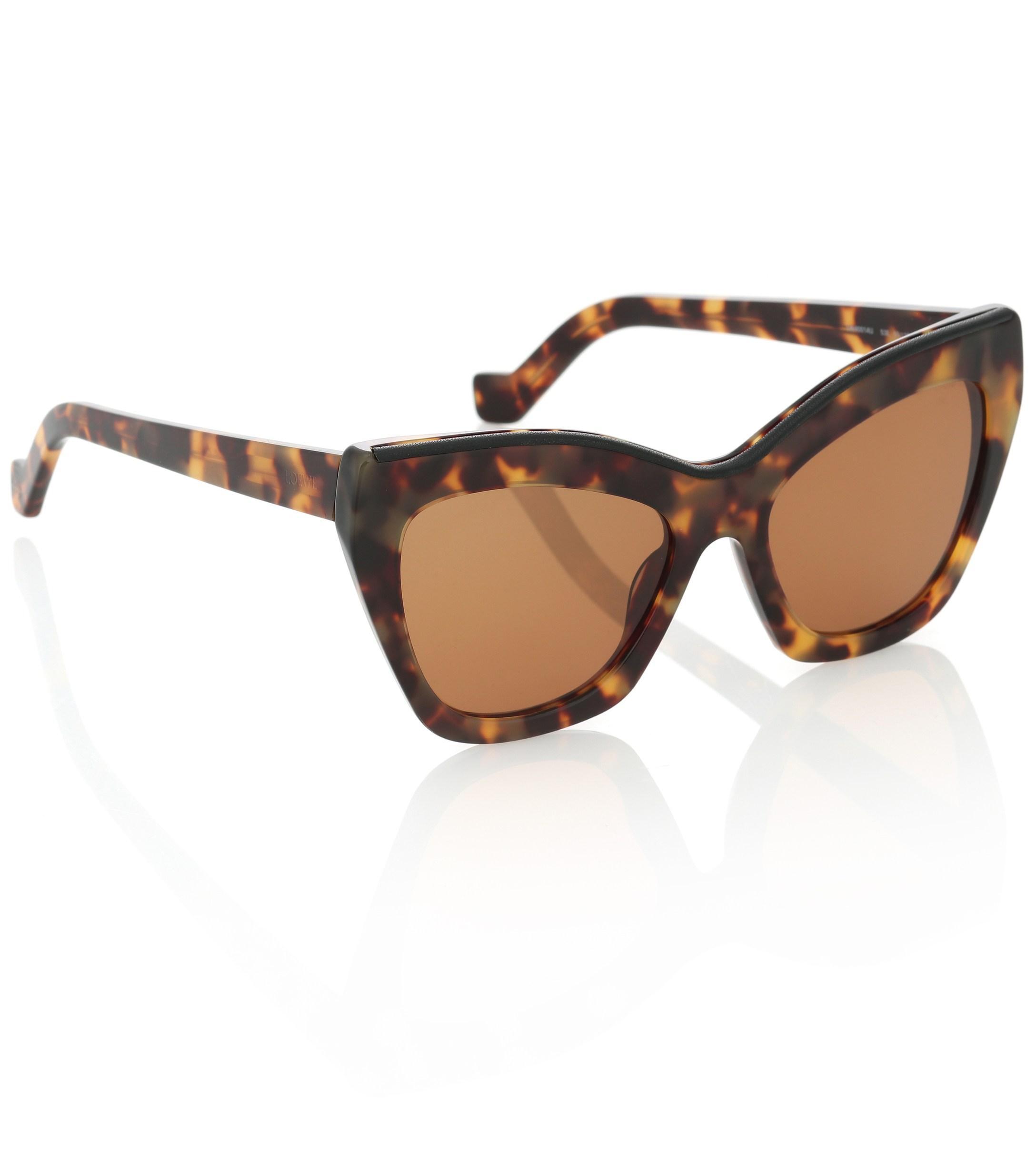 6cc843597b Loewe - Brown Cat-eye Acetate Sunglasses - Lyst. View fullscreen