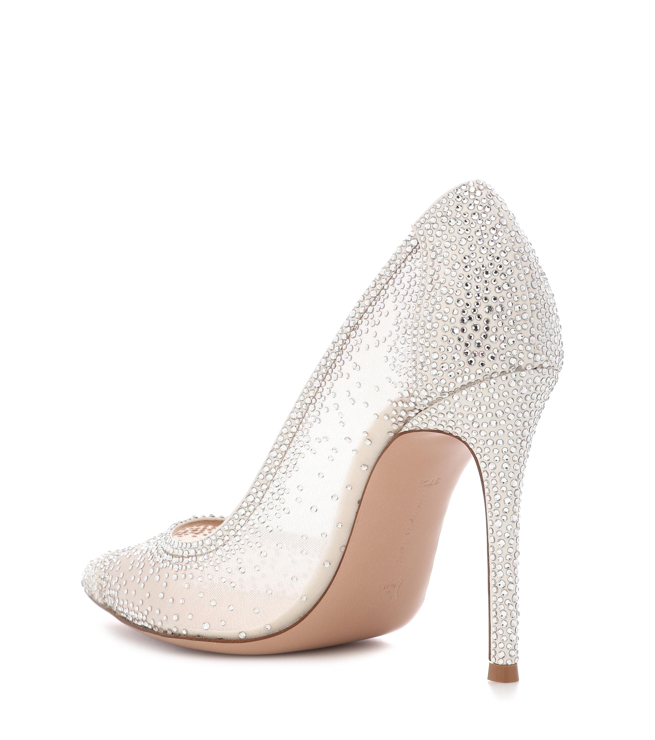 7f4f6b9cab34 Gianvito Rossi - Multicolor Rania Crystal-embellished Pumps - Lyst. View  fullscreen