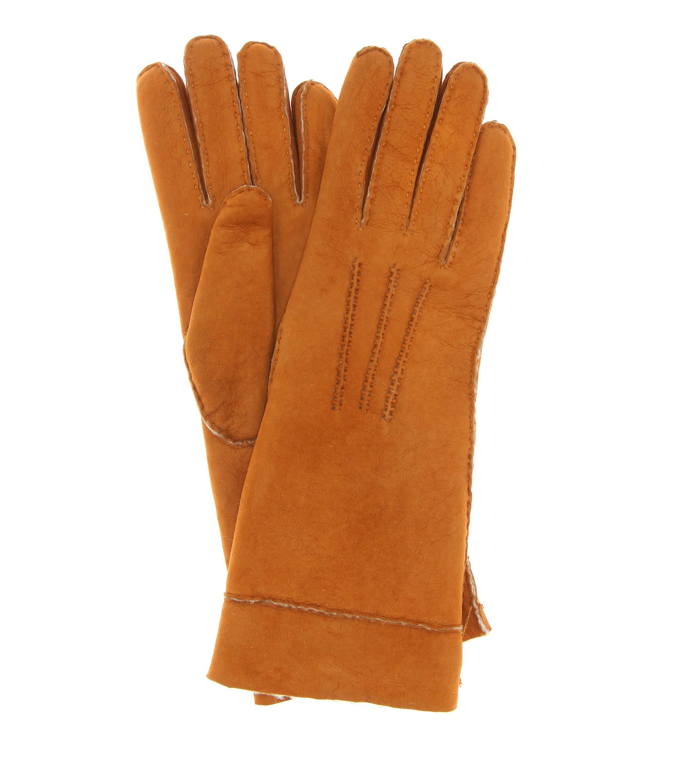 e0c34c8adb1cc5 Isabel Marant Handschuhe Yupiks aus Leder in Braun - Lyst