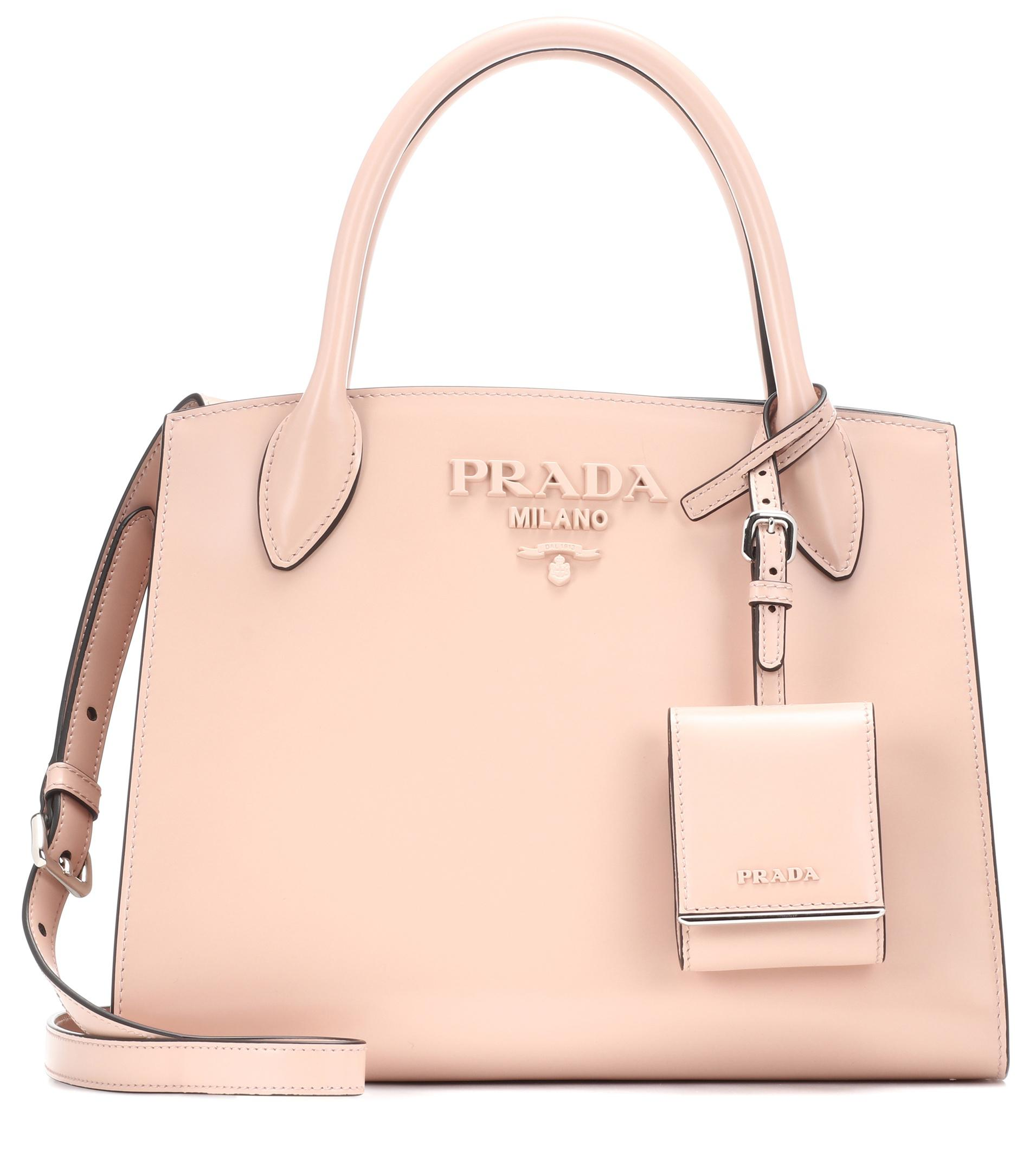 68ed6c997667 Prada - Pink Monochrome Leather Tote - Lyst. View fullscreen