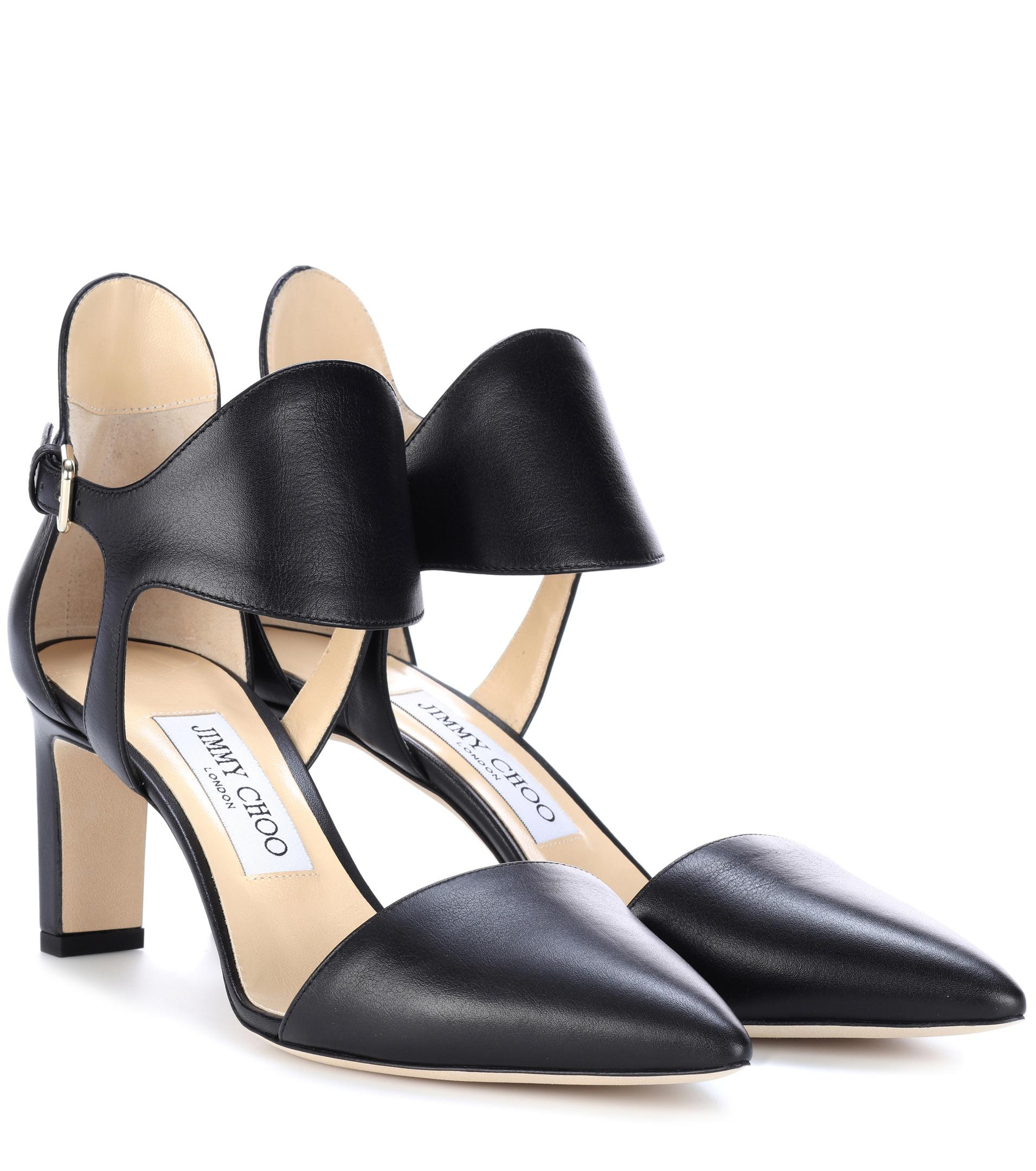 6813bf903727 Lyst - Jimmy Choo Moon 65 Leather Pumps in Black