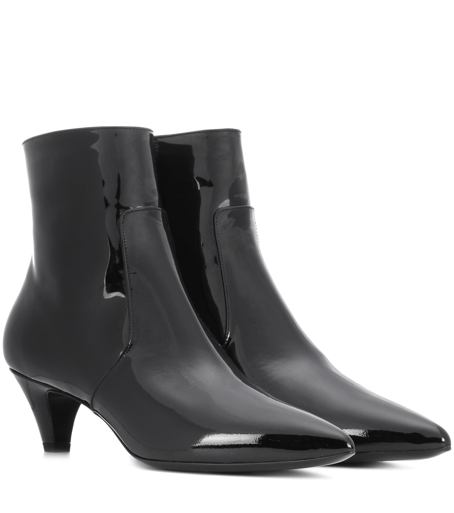 262841718393 Lyst - CALVIN KLEIN 205W39NYC Kat Patent Leather Ankle Boots in Black