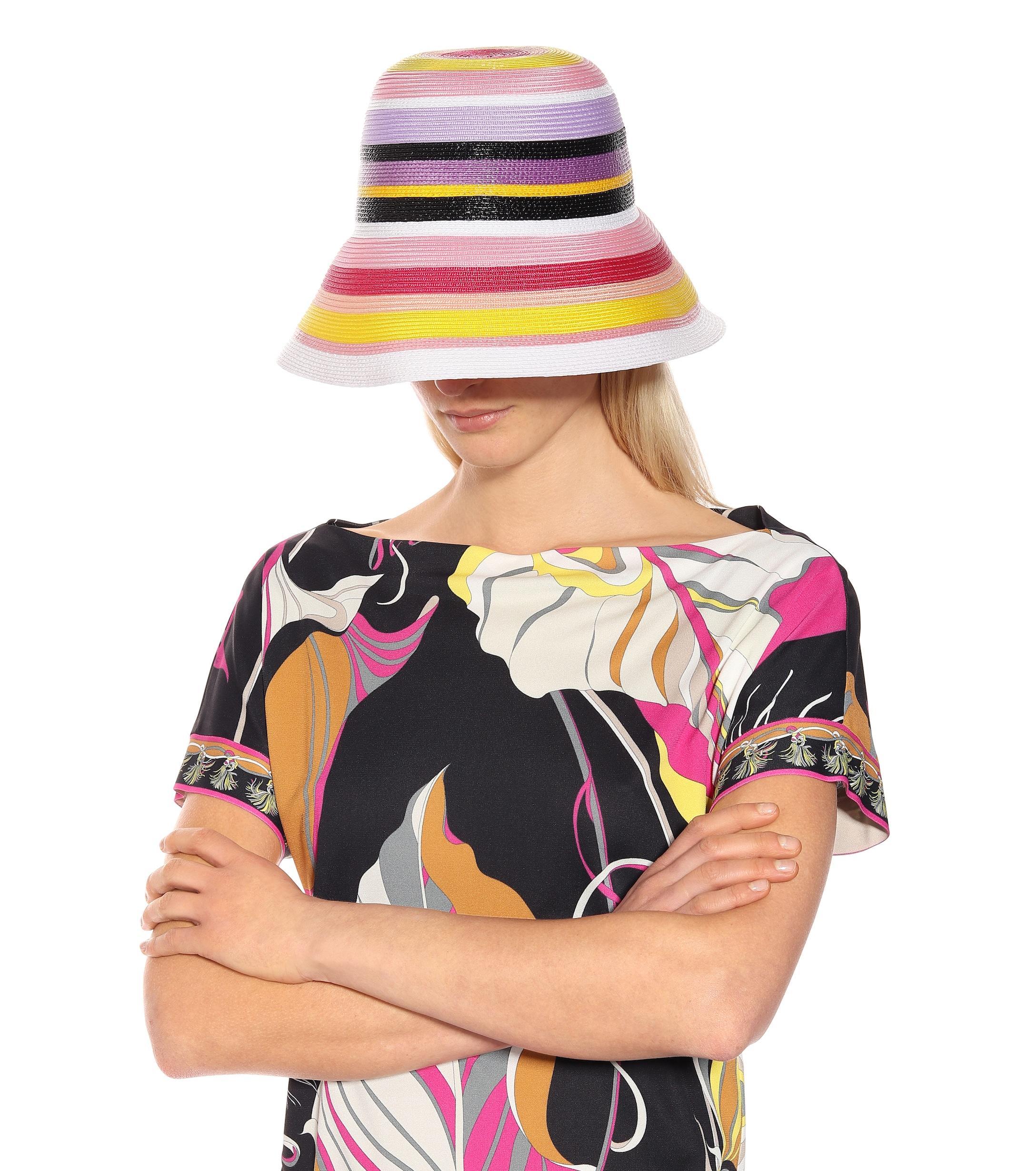 8af6e927810 Emilio Pucci - Multicolor Striped Hat - Lyst. View fullscreen