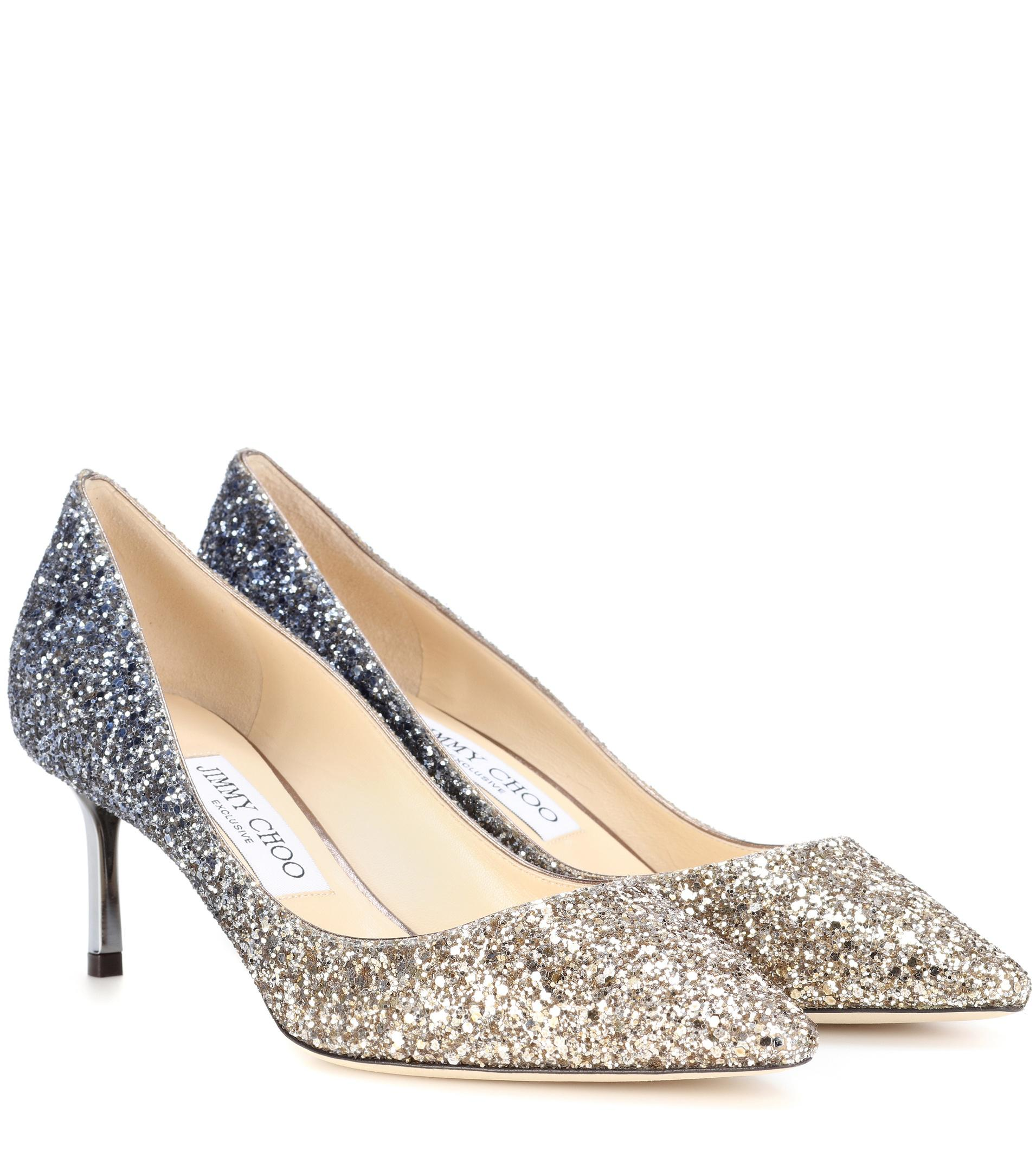 Exclusive to mytheresa.com - Romy 100 glitter pumps Jimmy Choo London Get Authentic Sale Fashion Style For Sale The Cheapest Free Shipping Great Deals frqwh3t5