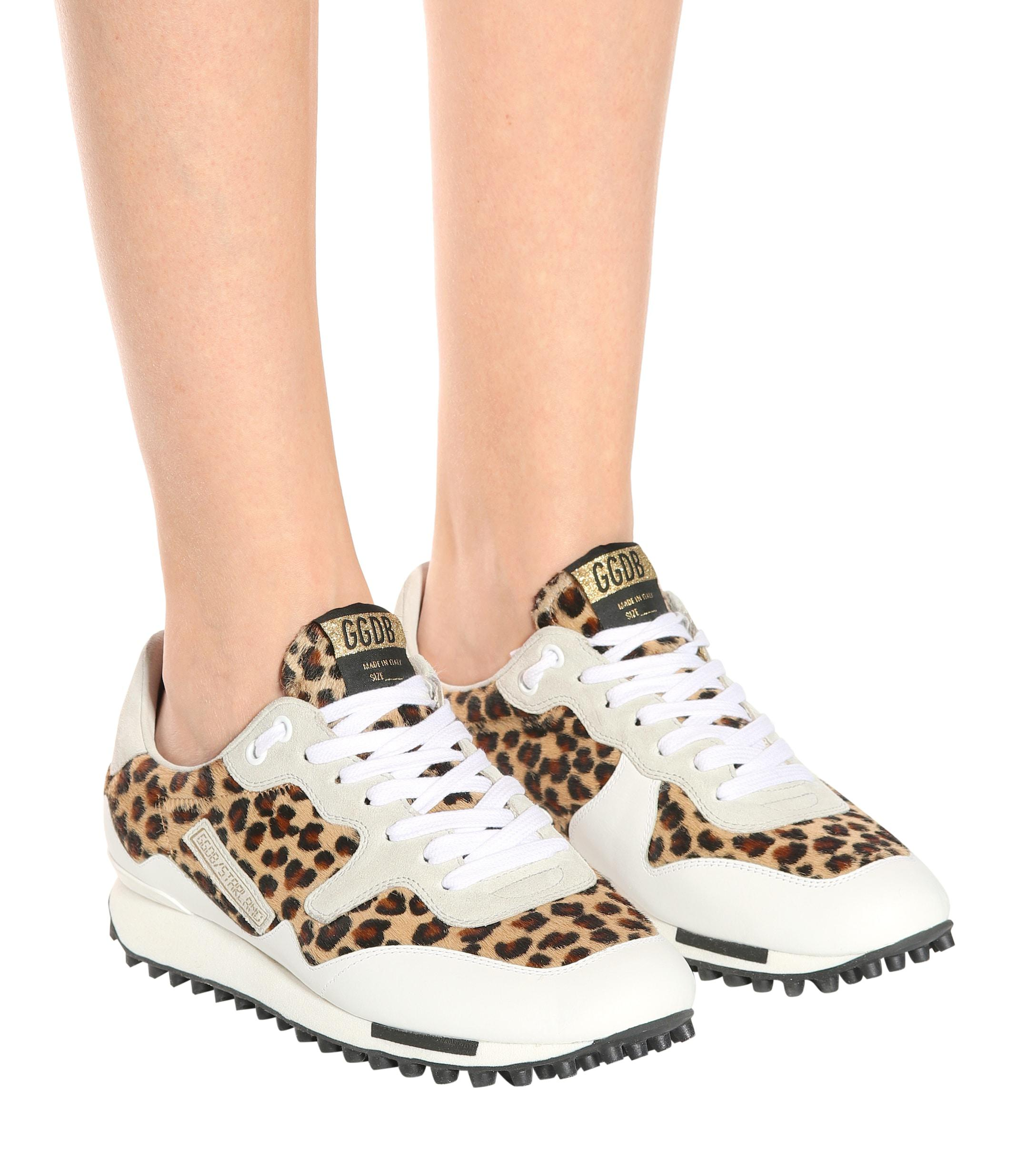868658b3f82b Golden Goose Deluxe Brand Starland Calf Hair Sneakers - Lyst