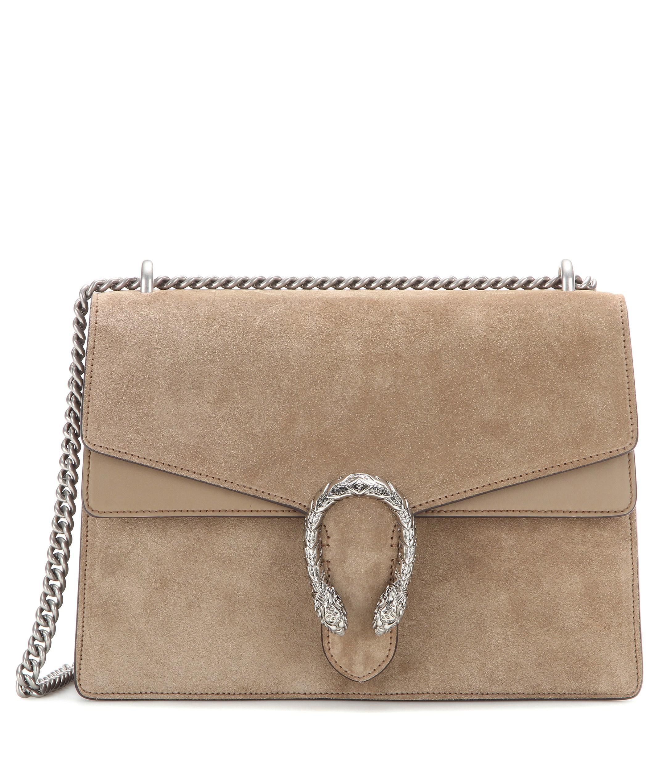 2f3da57a1cd1 Gucci Dionysus Medium Suede Shoulder Bag in Brown - Lyst