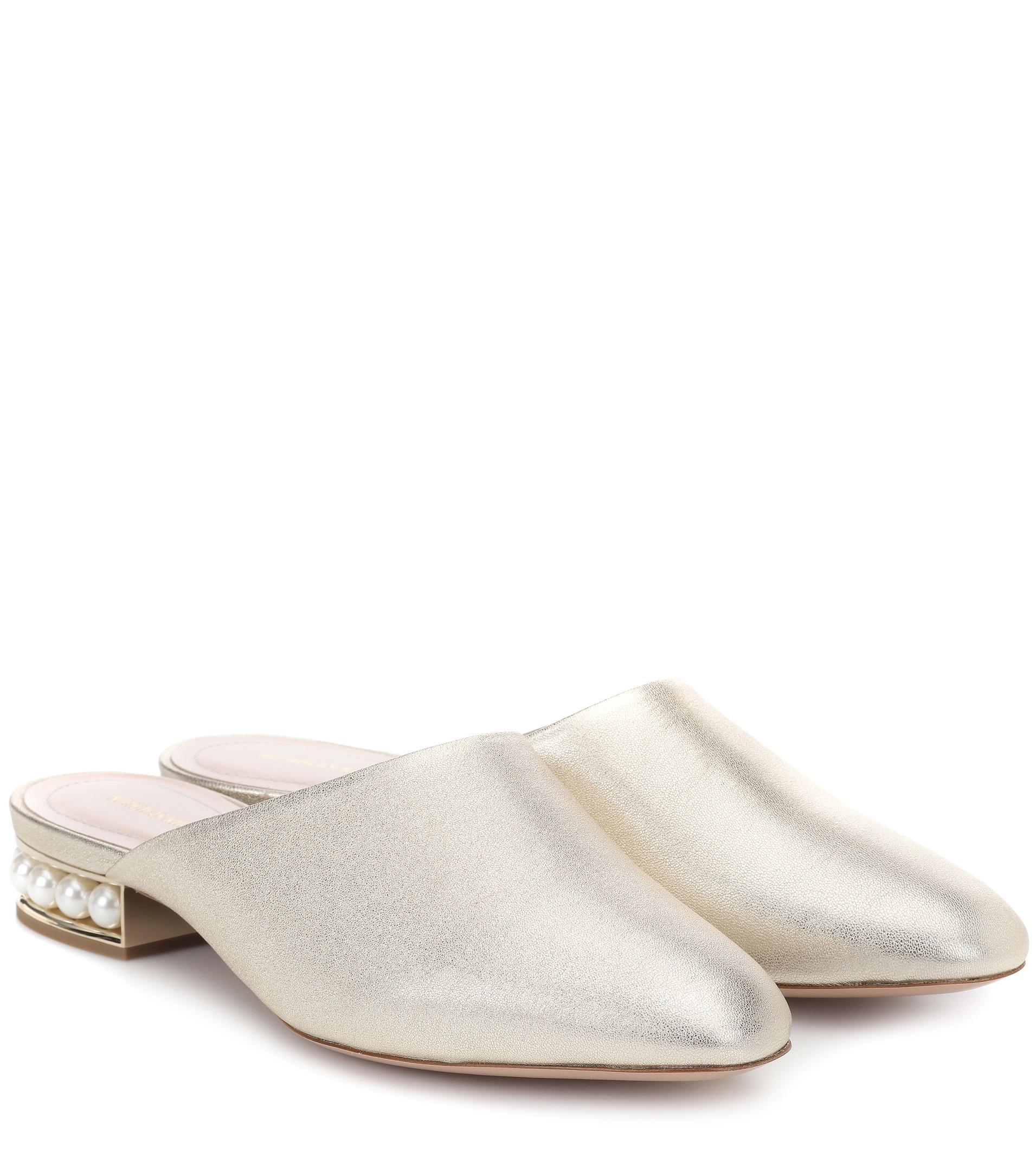 Nicholas Kirkwood Casati metallic leather slippers Professional ruyHMKU