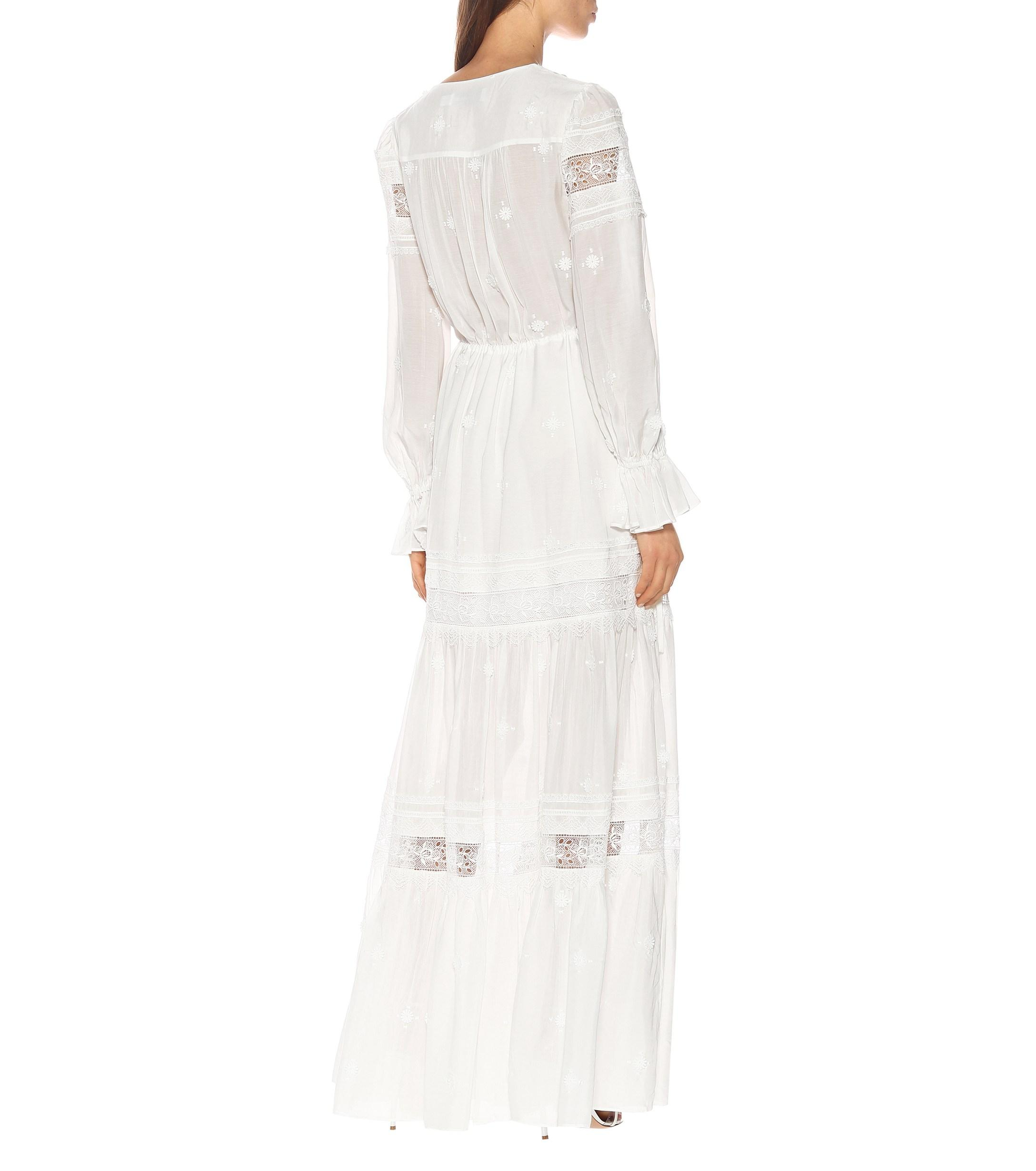 1cc7192c99887 Self-Portrait - White 3d Plumetis Maxi Dress - Lyst. View fullscreen