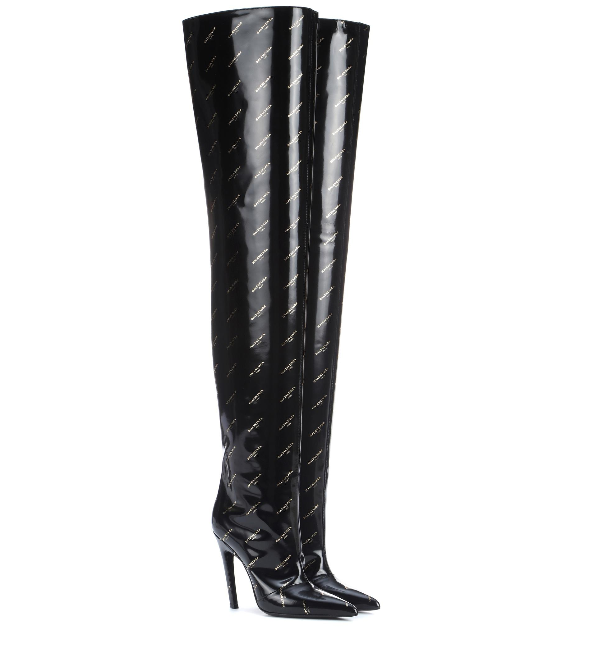 BalenciagaKnife over-the-knee leather boots 9vurq