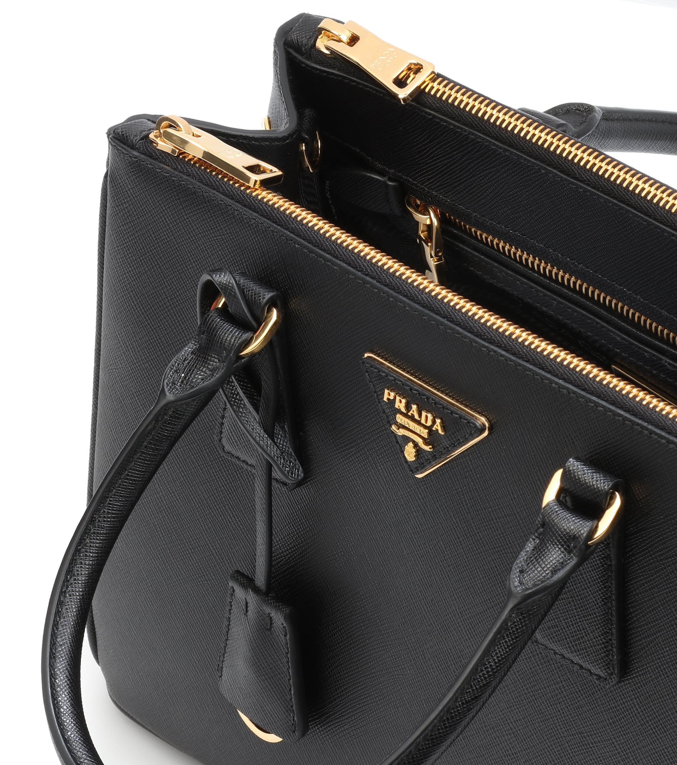Lyst - Prada Galleria Saffiano Small Leather Shoulder Bag in Black b8258d1d03eb2