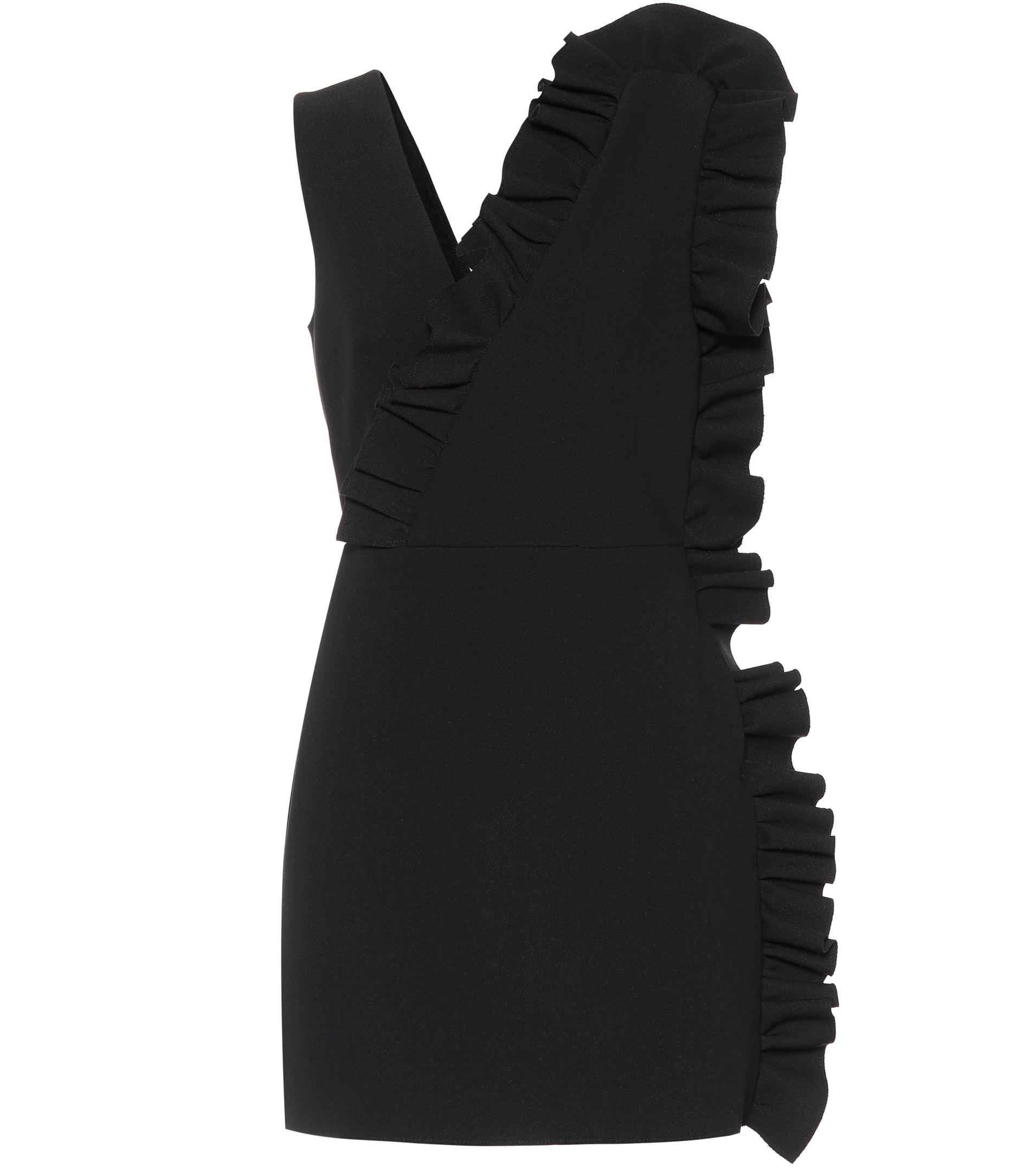 Black crepe mini dress Msgm Clearance For Sale Outlet Geniue Stockist Cheap Sale Popular Clearance Order QG7a9