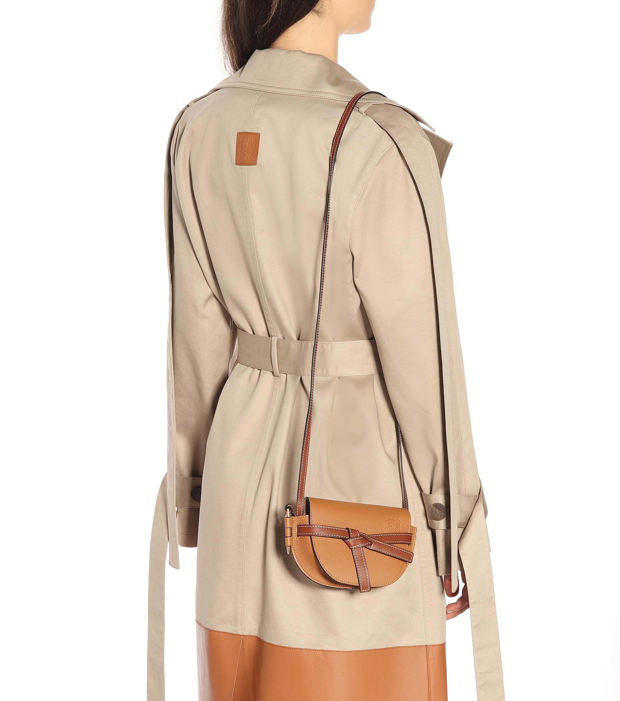 f9e52d75da69 Loewe - Brown Gate Mini Leather Crossbody Bag - Lyst. View fullscreen