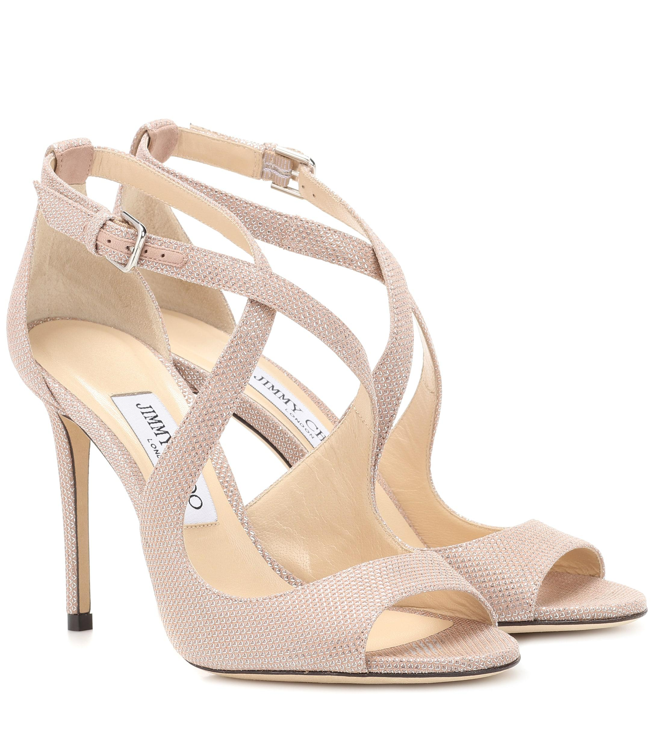 efa58d148b23 Lyst - Jimmy Choo Emily 100 Sandals in Pink