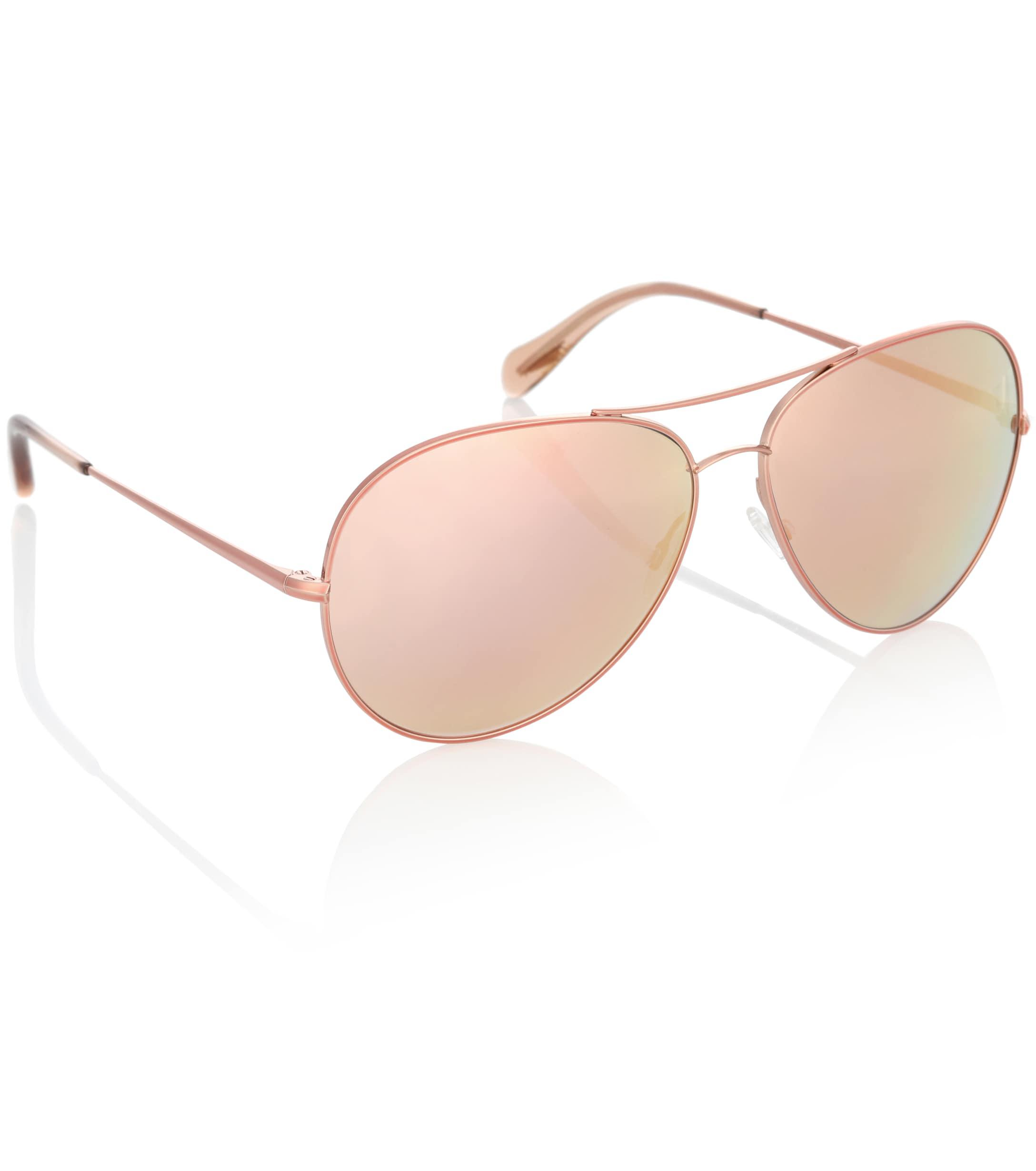 82a9aff08 Oliver Peoples - Metallic Sayer 63 Mirrored Aviator Sunglasses - Lyst. View  fullscreen
