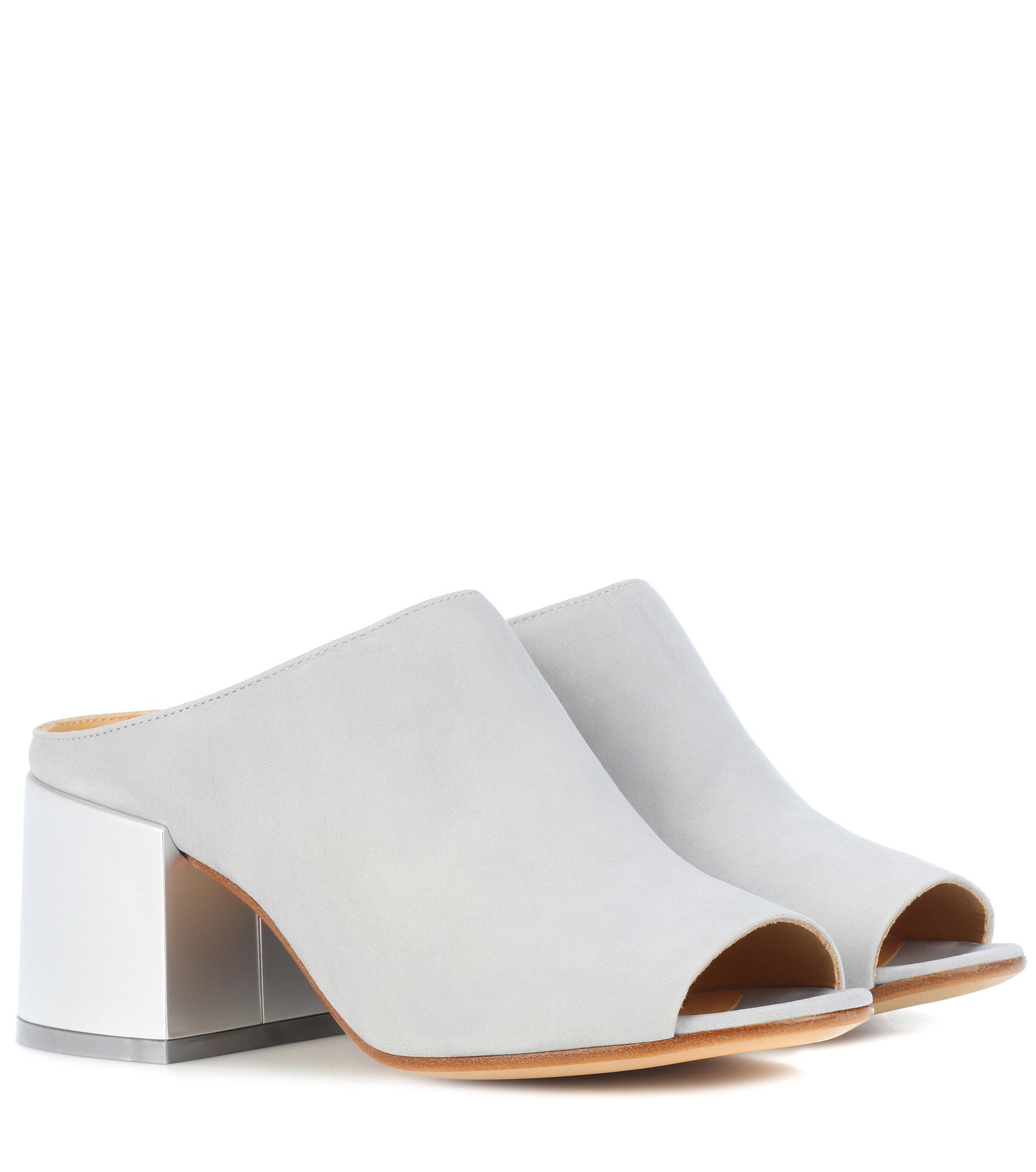 MM6 MAISON MARGIELA Suede sandals J0i6pI4VQ
